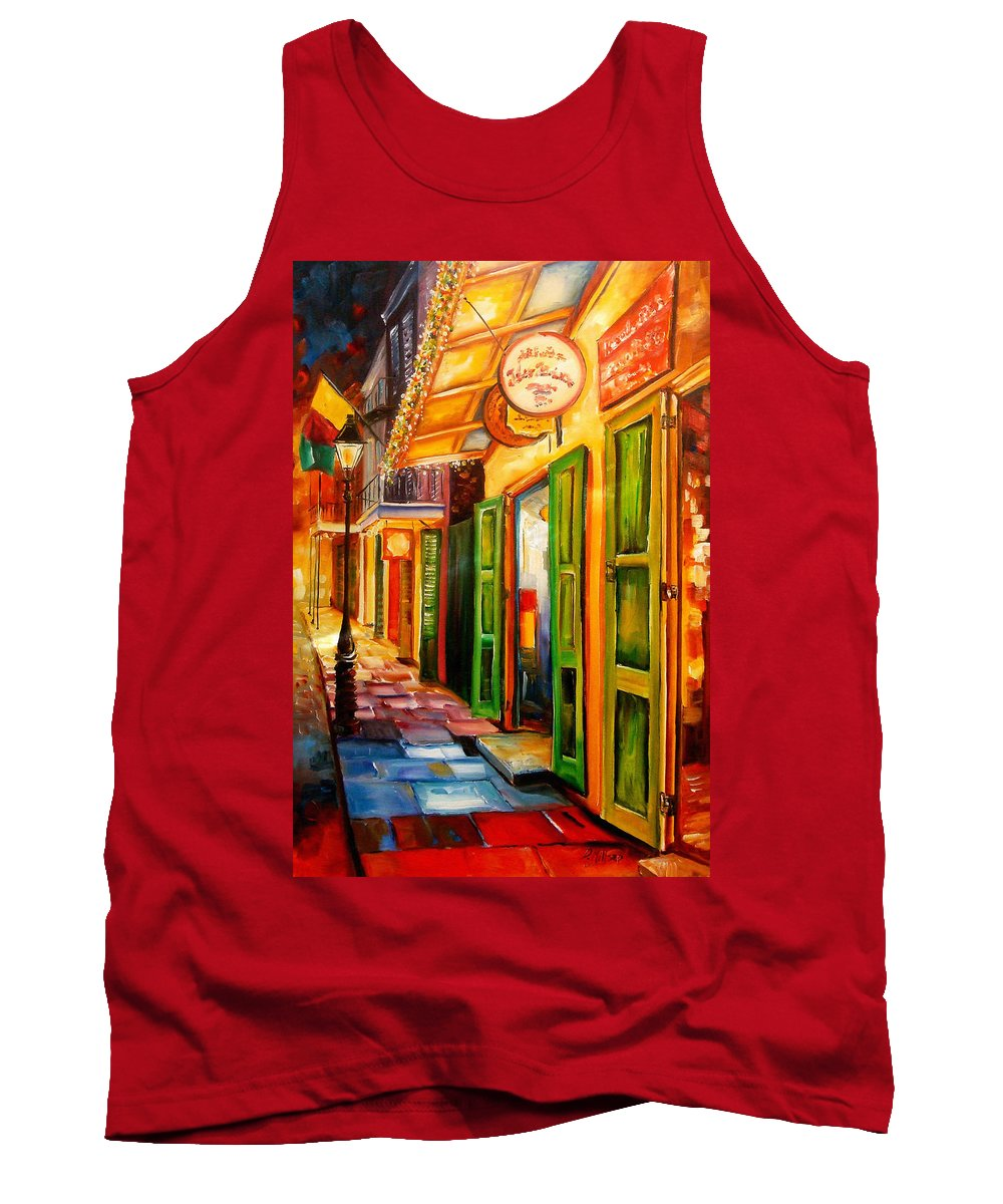 New Orleans Tank Top featuring the painting Going Back To New Orleans by Diane Millsap