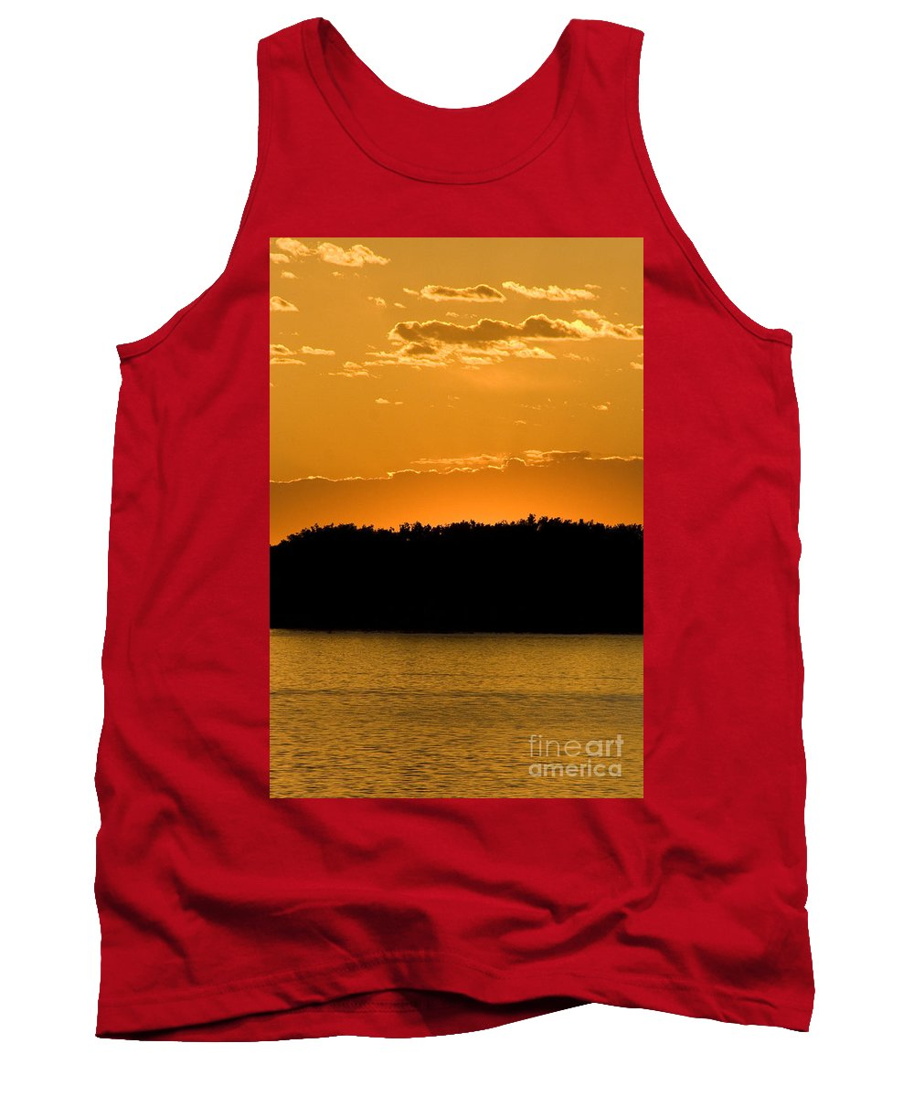 Sunset Tank Top featuring the photograph Golden Glow Sunset by Martha Johnson