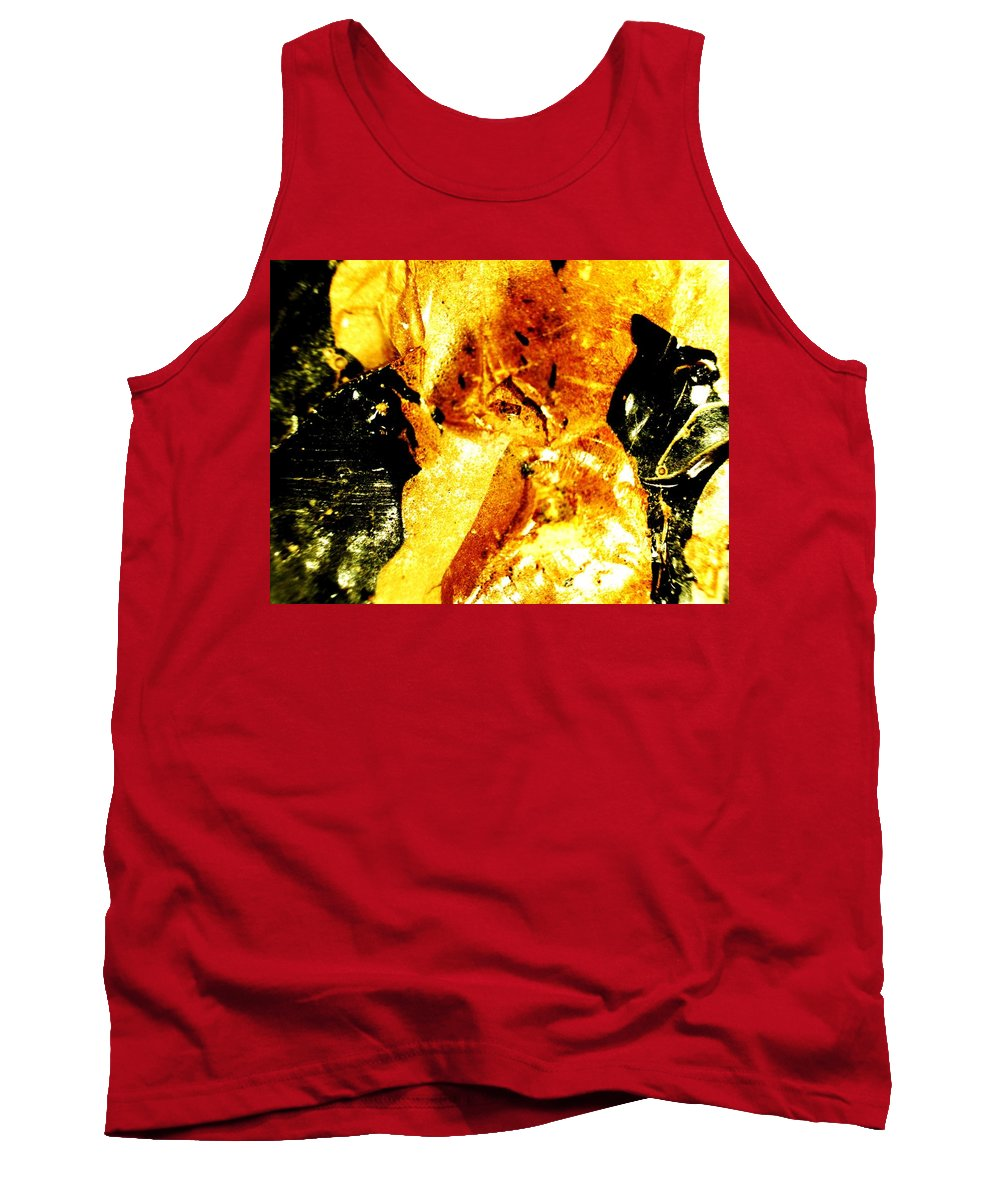Abstract Tank Top featuring the photograph Golden Kimono by Michael Hackney