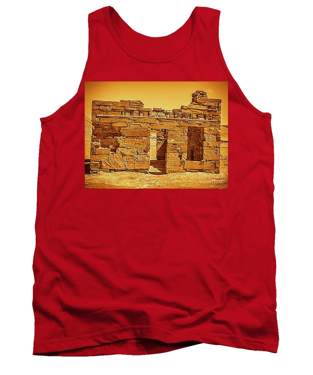 Architecture Tank Top featuring the photograph Golden Times by Mona Stut