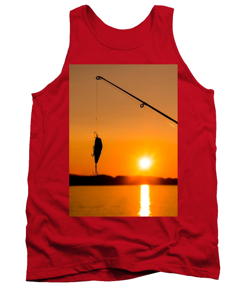 Silhouette Tank Top featuring the photograph Gone Fishing by Mikko Karjalainen