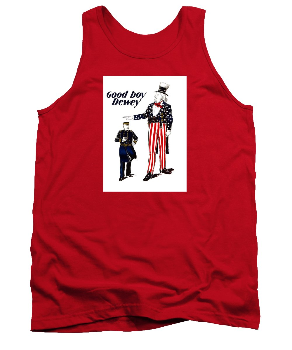 Uncle Sam Tank Top featuring the painting Good Boy Dewey by War Is Hell Store
