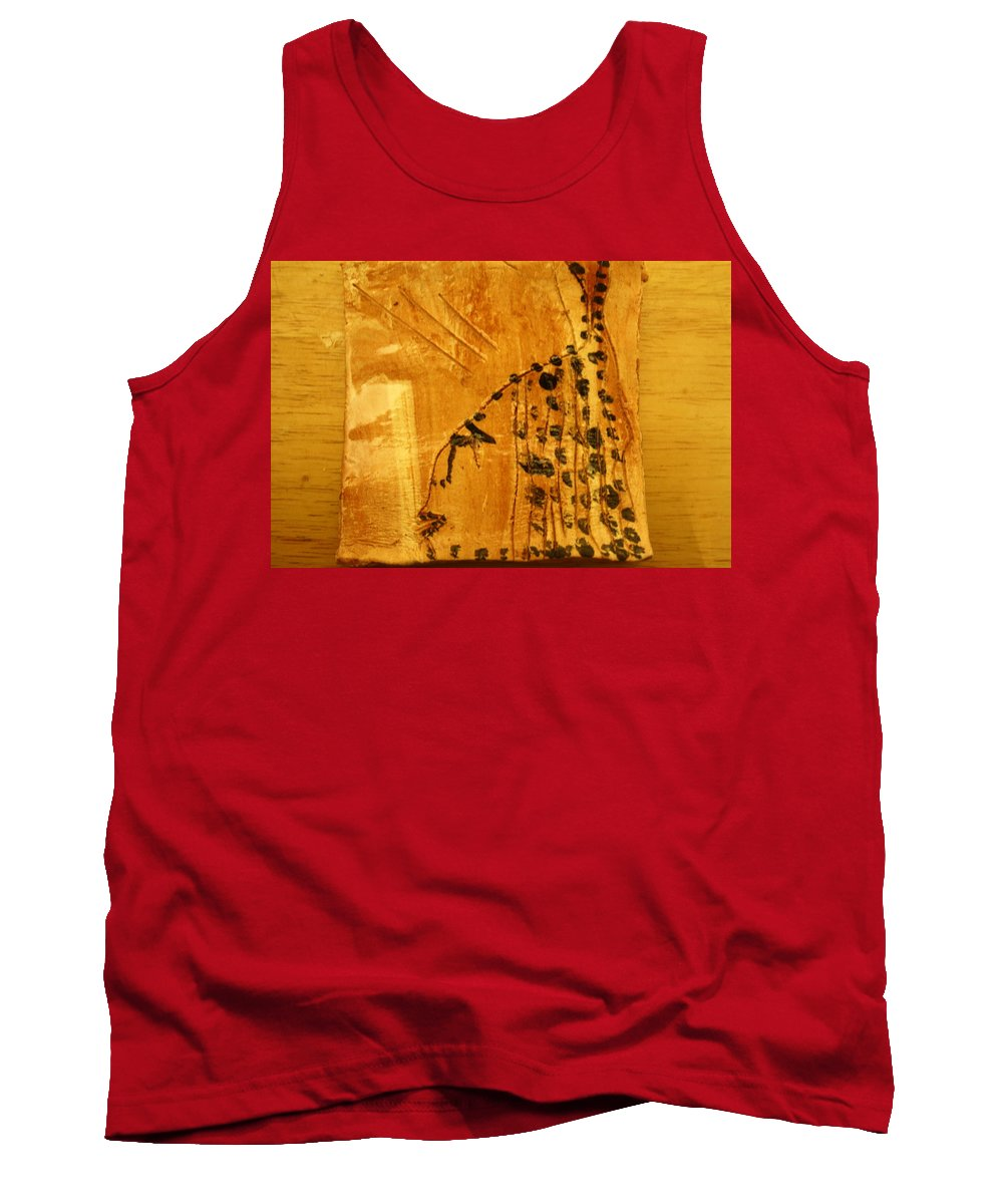 Jesus Tank Top featuring the ceramic art Grace Appears - Tile by Gloria Ssali