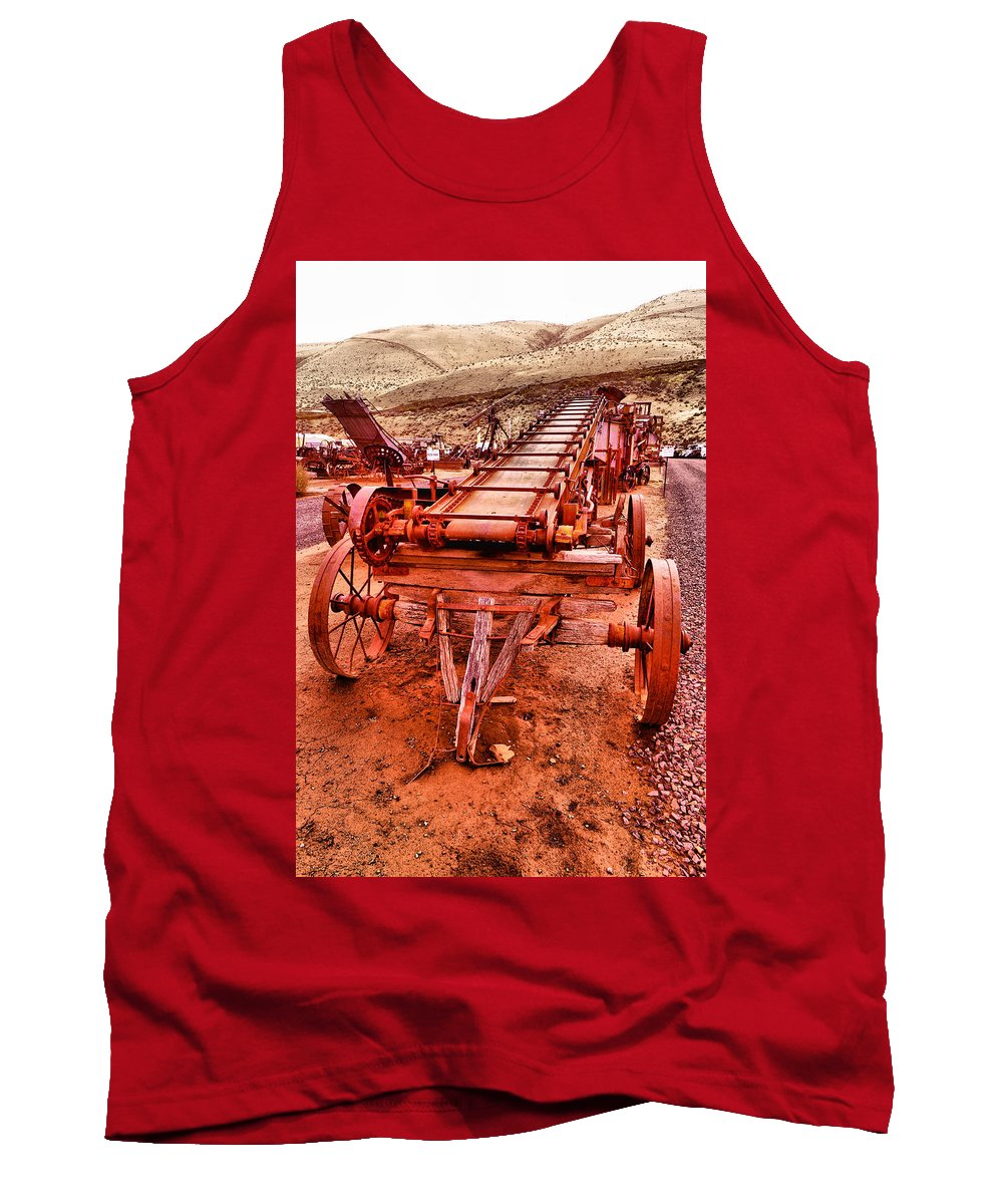 Grain Sack Loader Tank Top featuring the photograph Grain Sack Loader by Jeff Swan