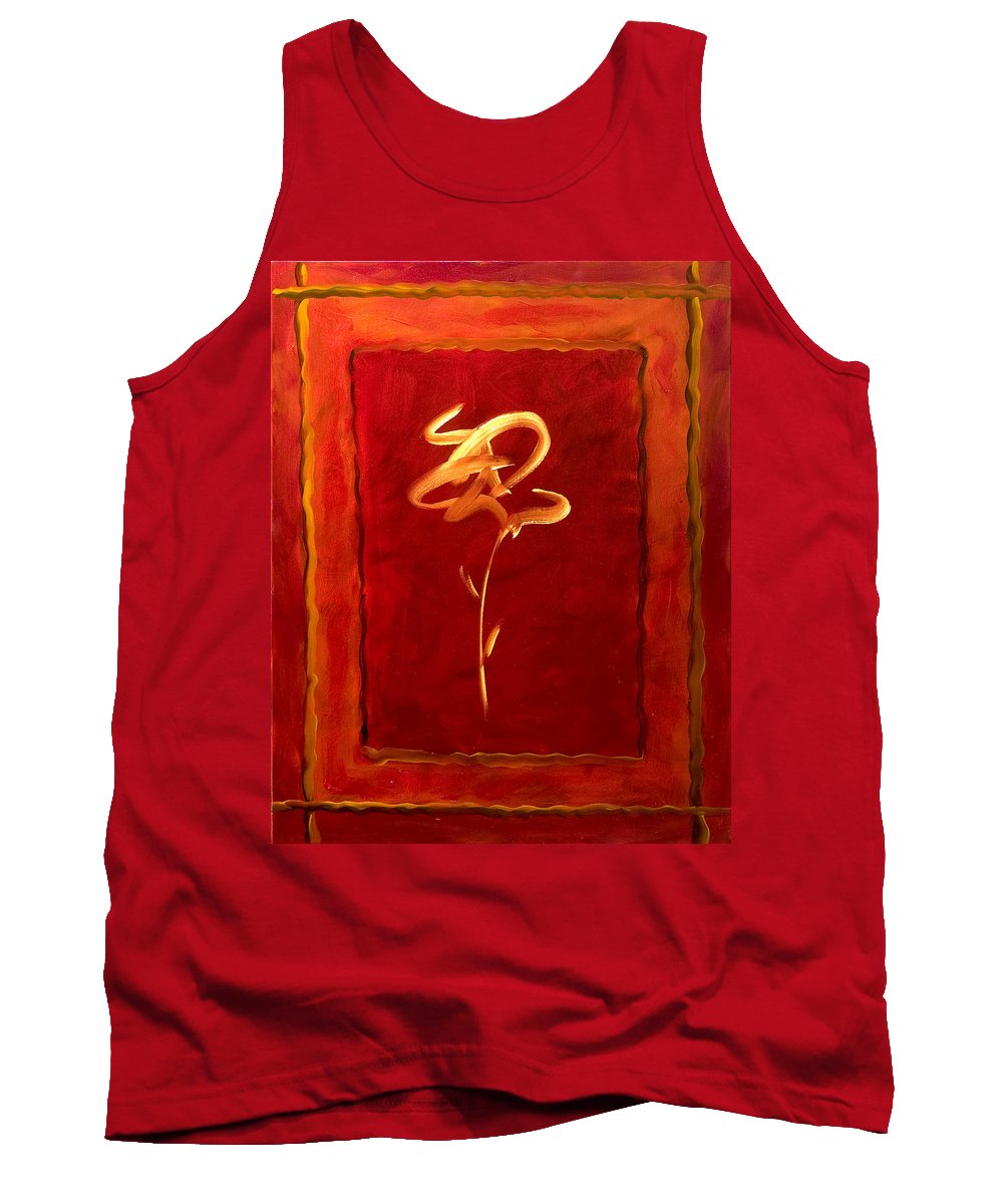 Abstract Flower Tank Top featuring the painting Gratitude by Shannon Grissom
