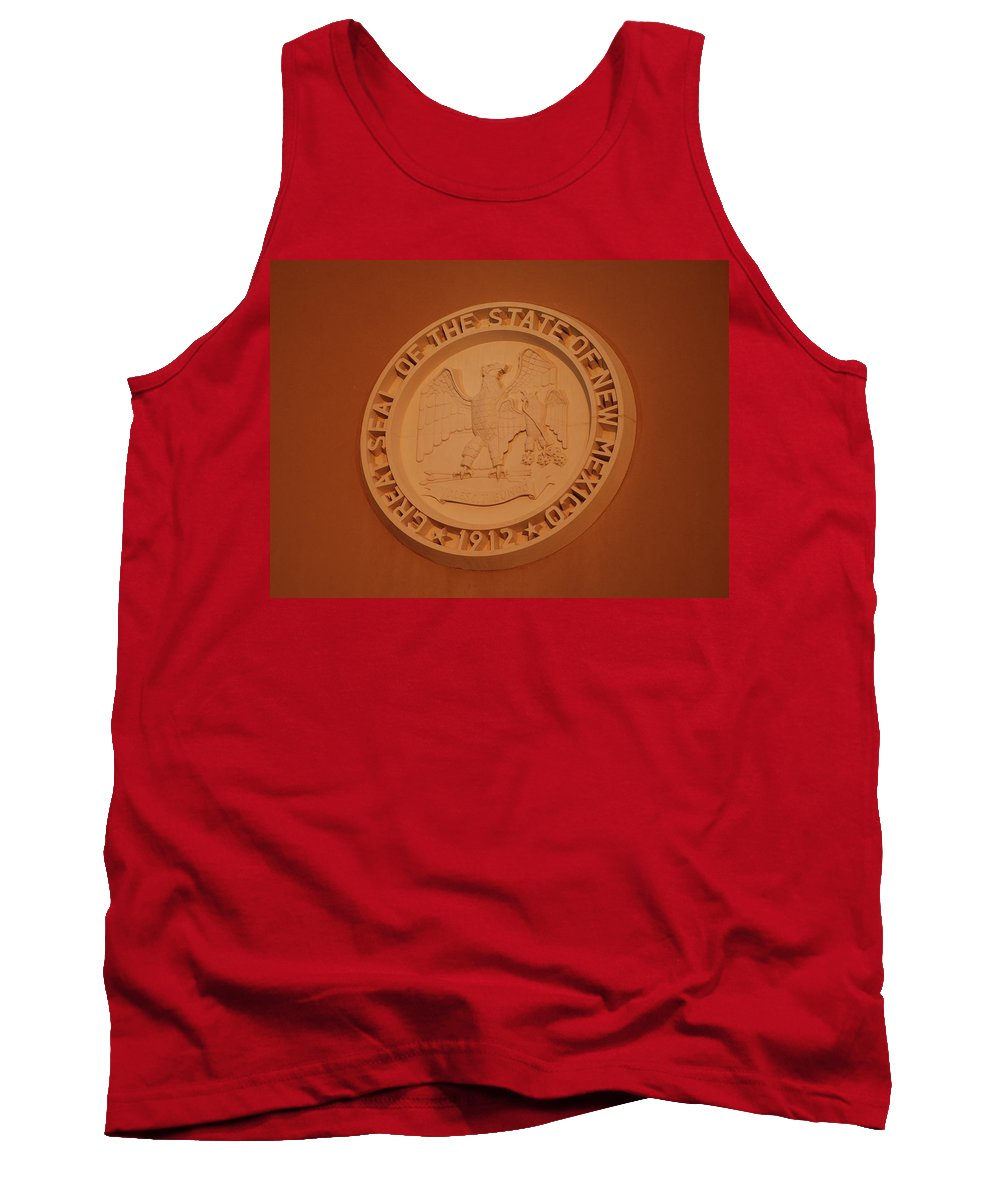 Eagle Tank Top featuring the photograph Great Seal Of The State Of New Mexico 1912 by Rob Hans