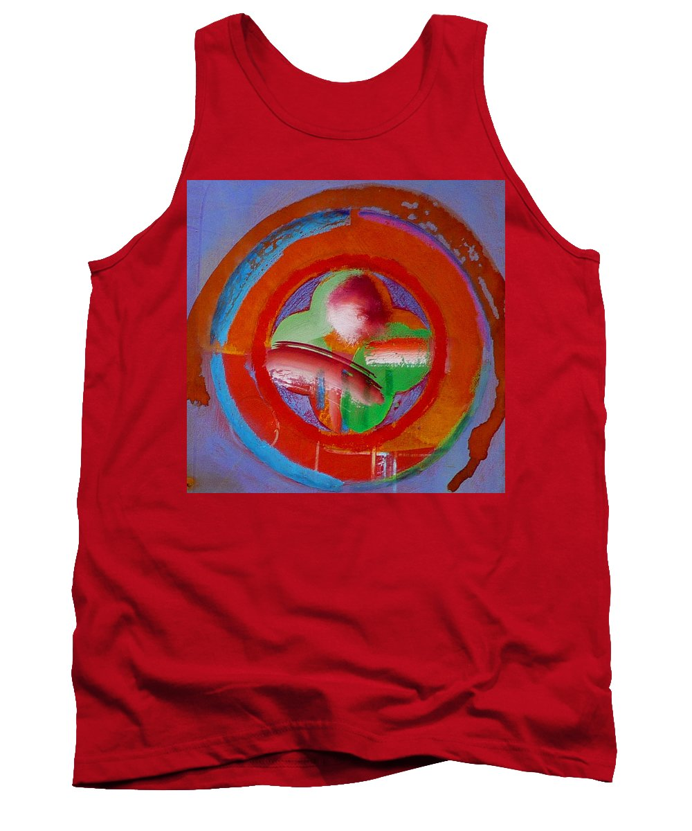 Love Tank Top featuring the painting Green Planet by Charles Stuart
