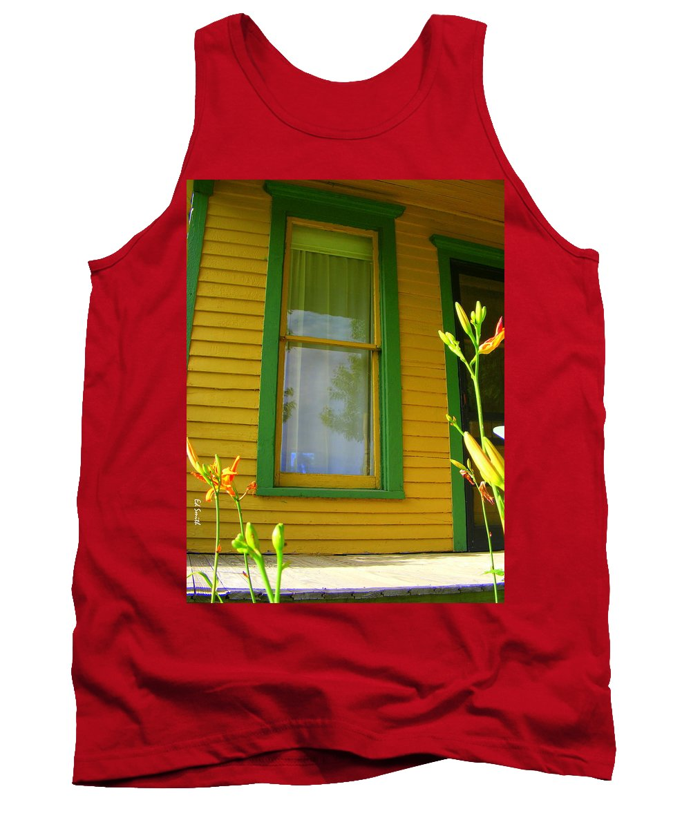 Green Window Tank Top featuring the photograph Green Window by Edward Smith