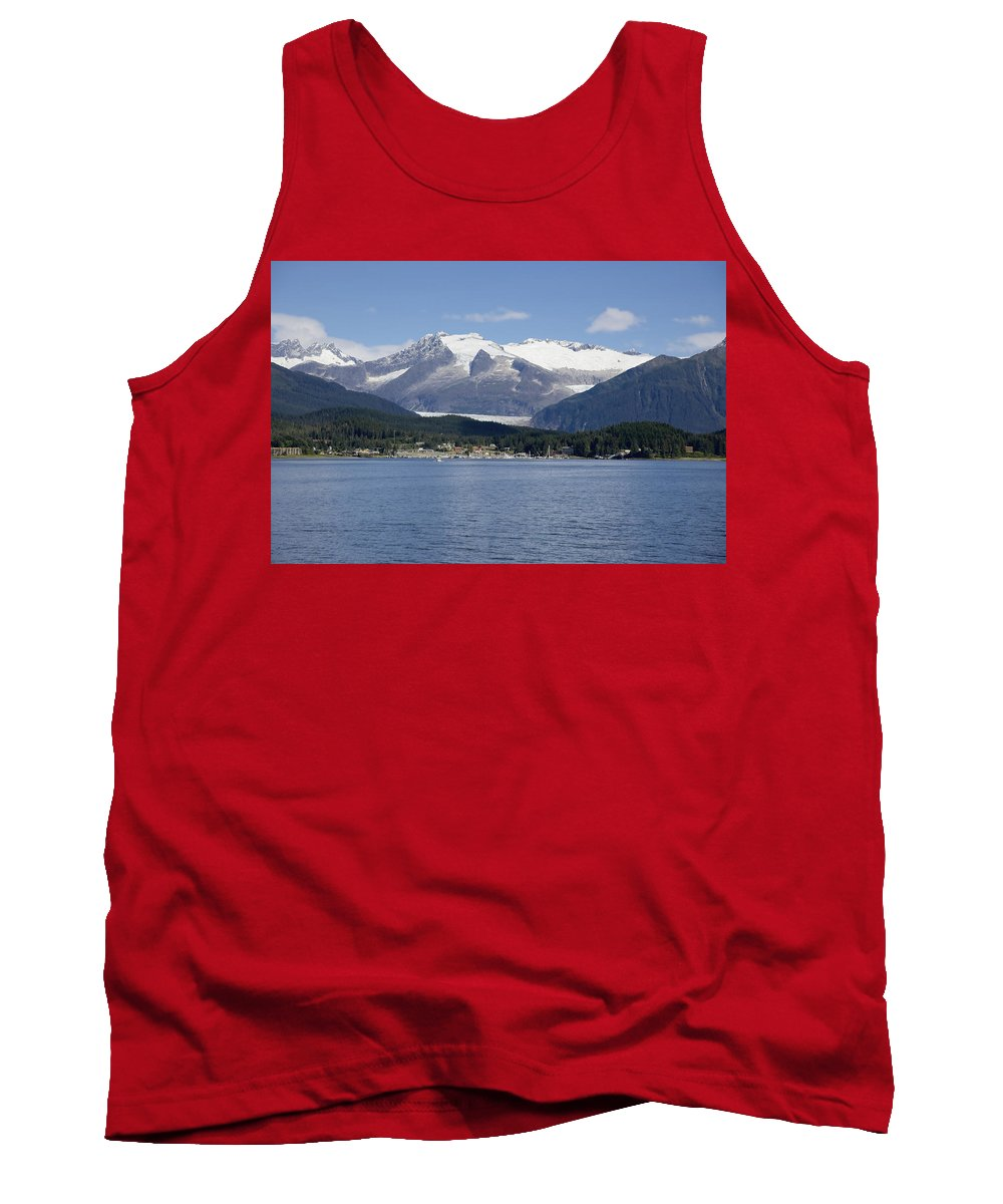 Haines Tank Top featuring the photograph Haines Harbor by Richard J Cassato