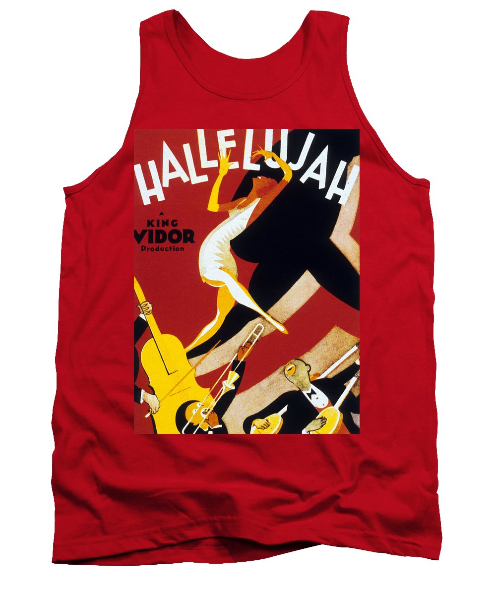 Jazz Tank Top featuring the drawing Hallelujah by American School