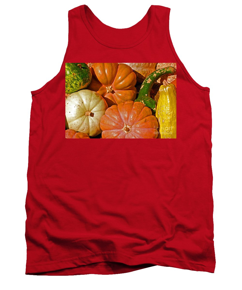 Squash Tank Top featuring the photograph Harvest Time by Debbi Granruth