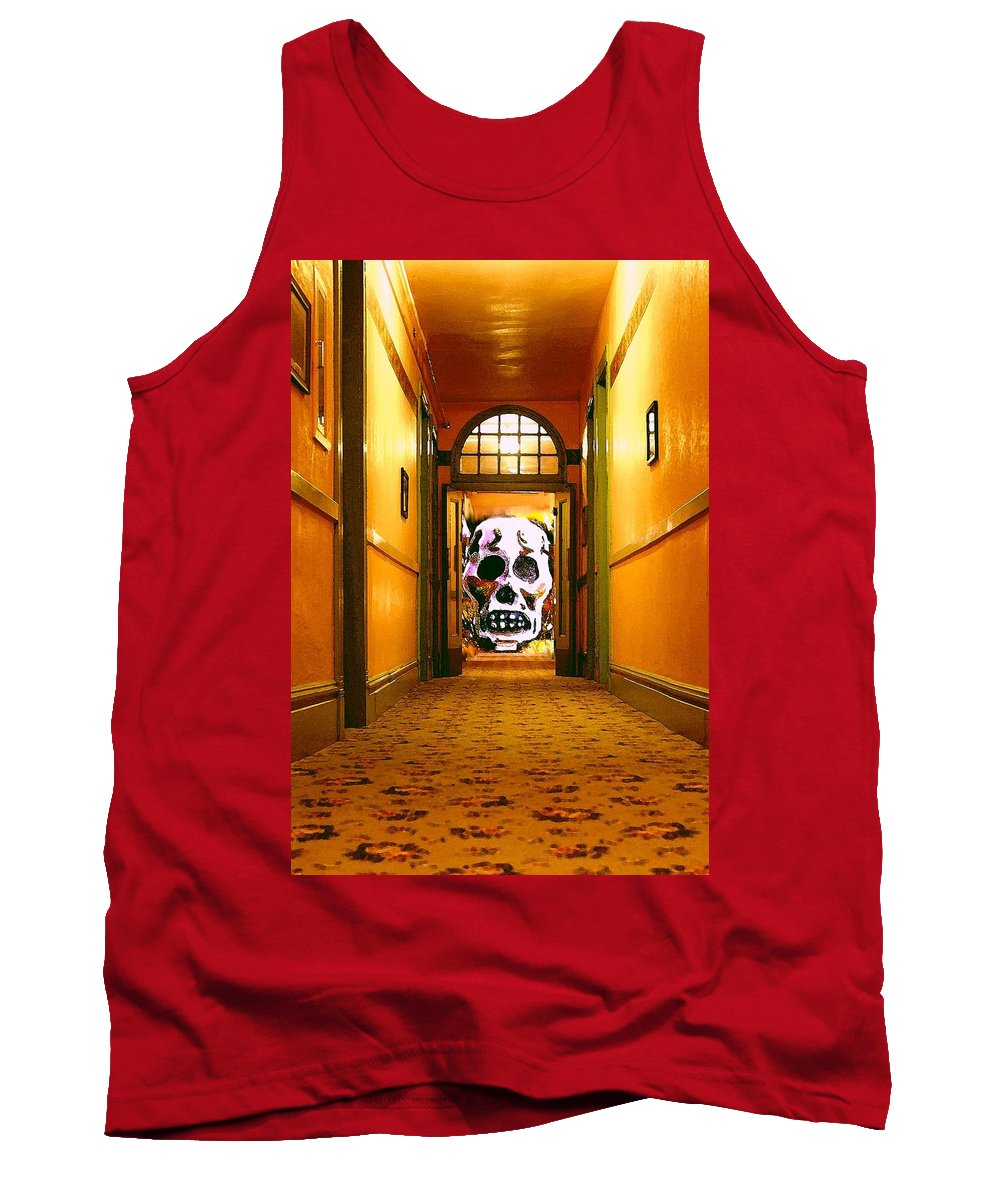 Haunted Tank Top featuring the photograph Haunted Hallway by Nelson Strong