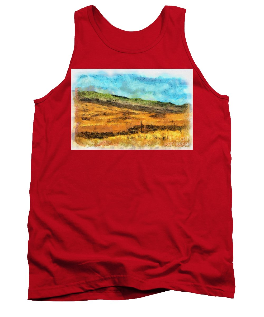 Photograph Tank Top featuring the photograph Hawaiian Pasture by Paulette B Wright
