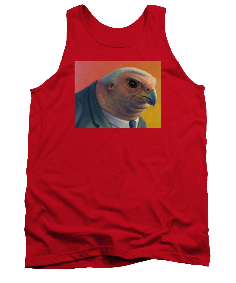 Hawk Tank Top featuring the painting Hawkish by James W Johnson