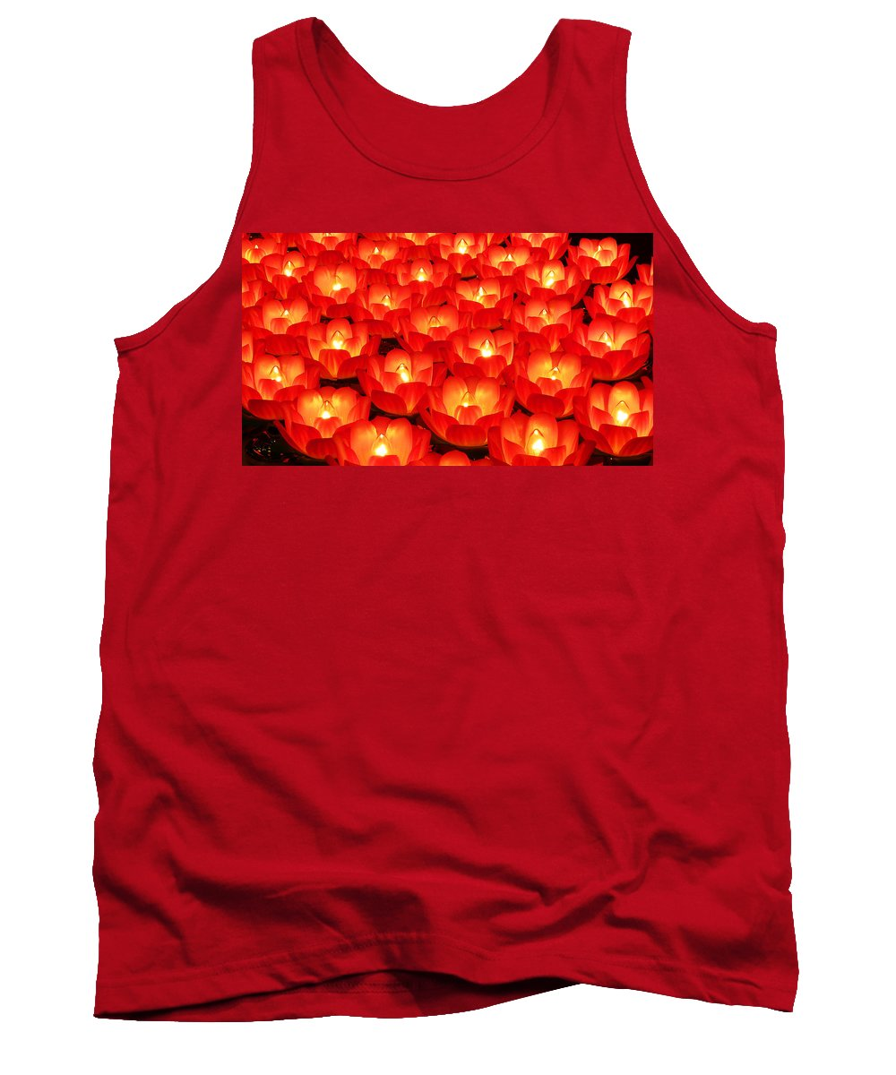 Red Tank Top featuring the photograph Healing Lights 2 by Xueling Zou