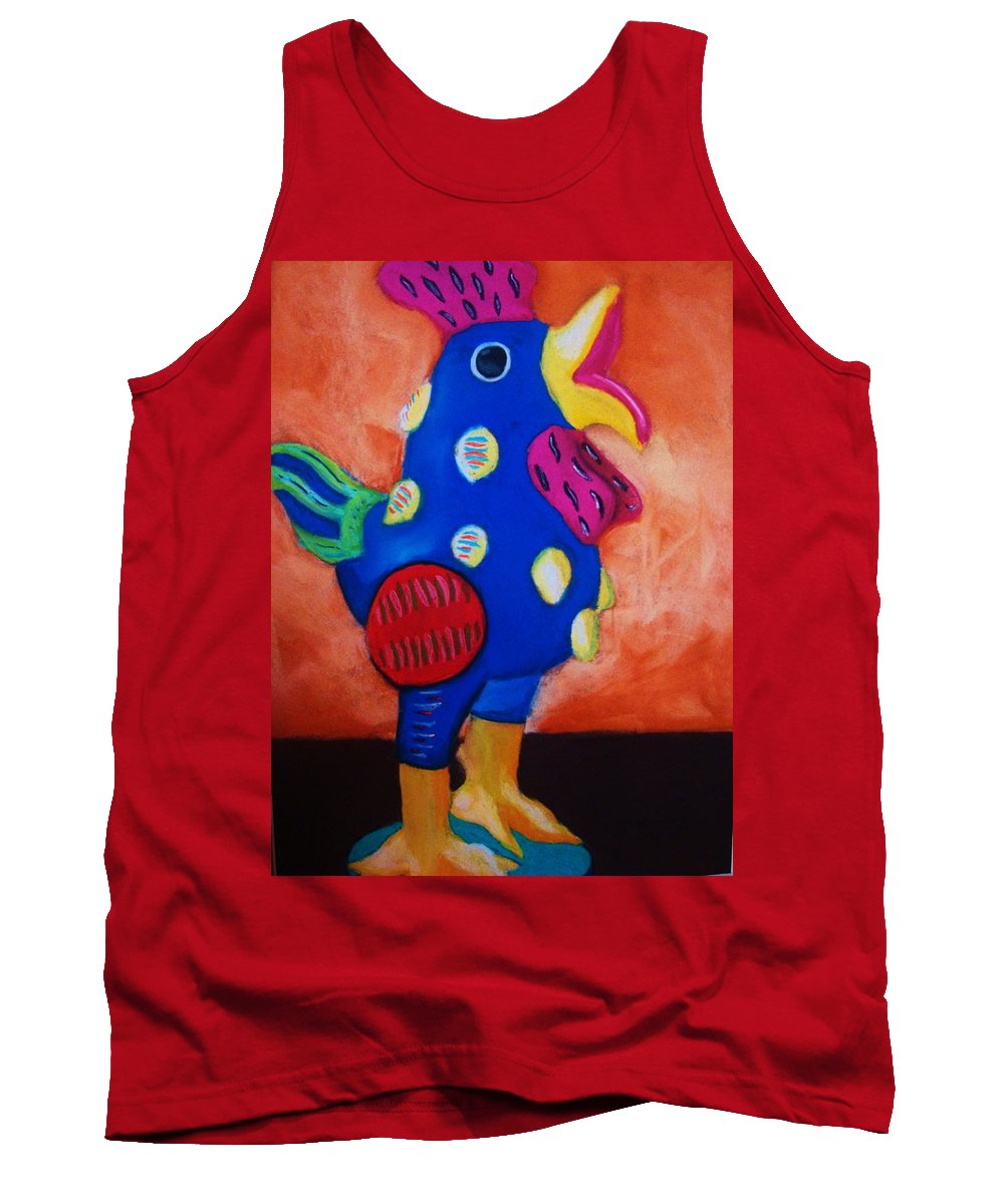 Chick Tank Top featuring the painting Hear Ye Hear Ye by Melinda Etzold