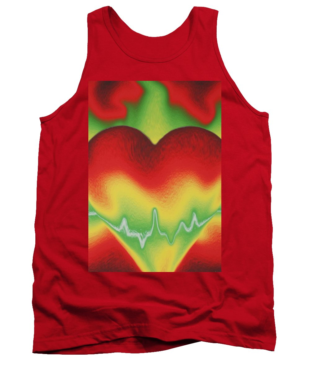 Heart Tank Top featuring the photograph Heart Beat by Rob Hans