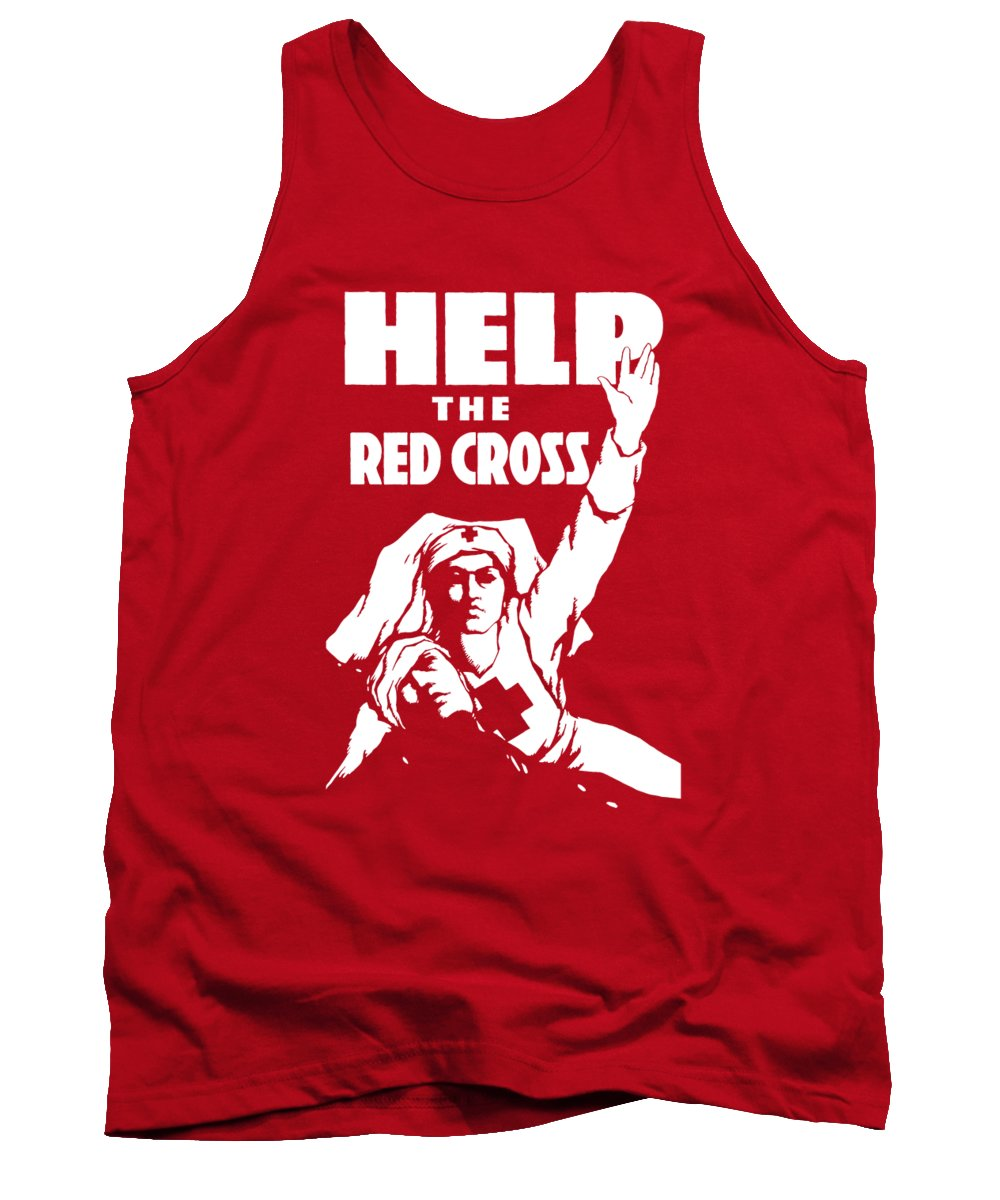 Ww1 Tank Top featuring the painting Help The Red Cross by War Is Hell Store