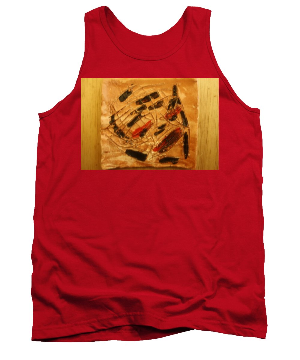 Jesus Tank Top featuring the ceramic art Heroes - Tile by Gloria Ssali