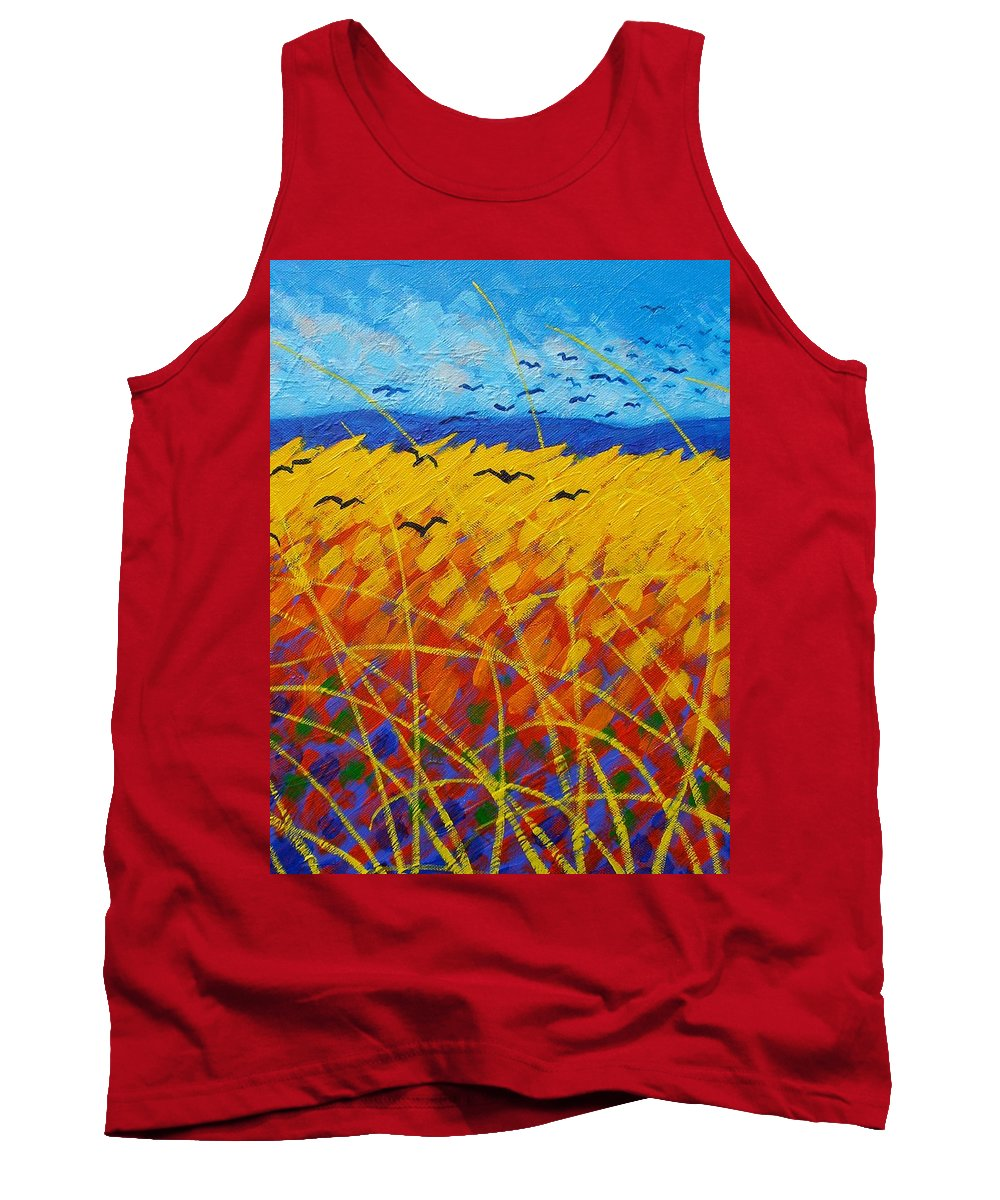 Vincent Van Gogh Tank Top featuring the painting Homage To Vincent by John Nolan