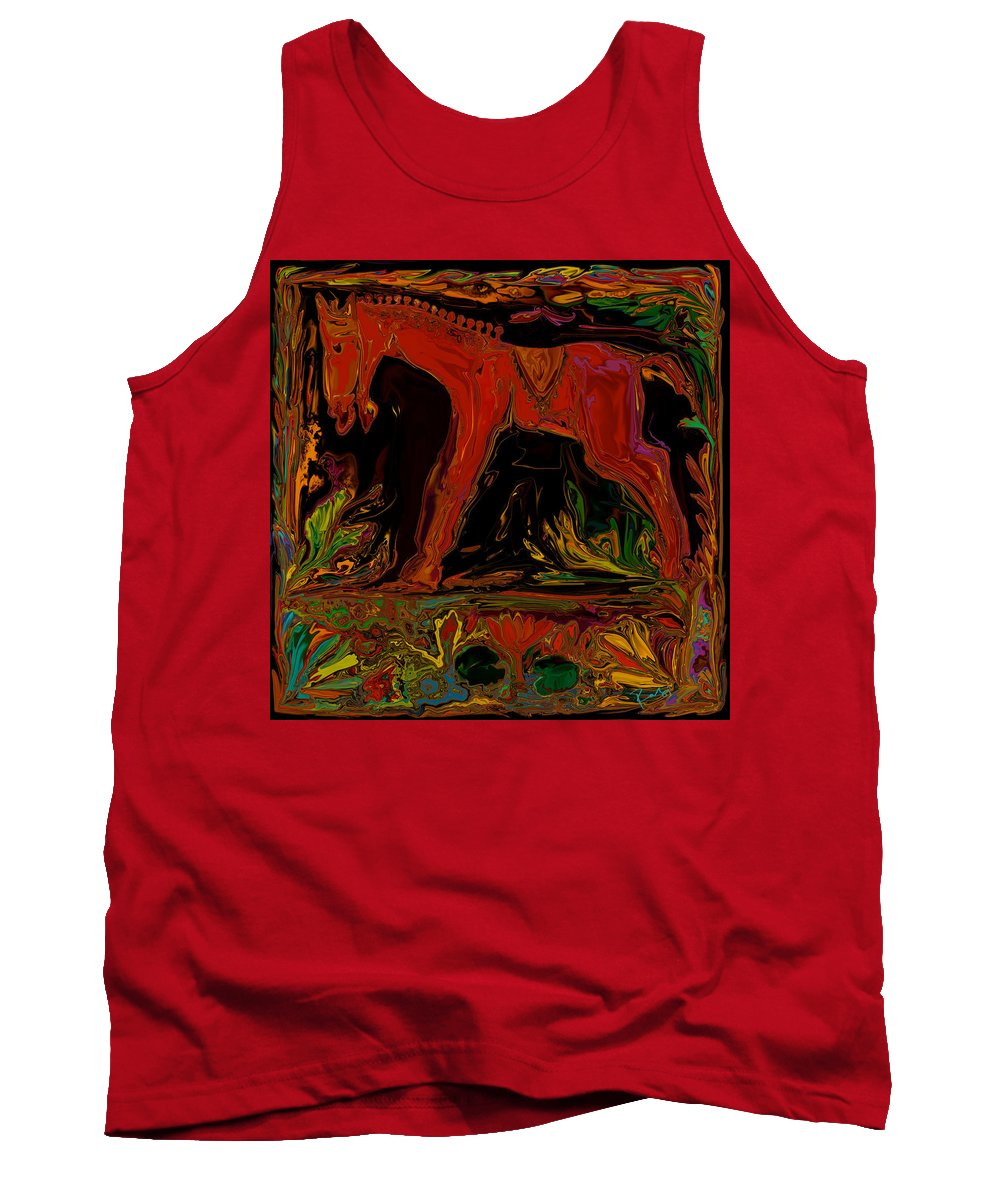 Animal Tank Top featuring the digital art Horse by Rabi Khan