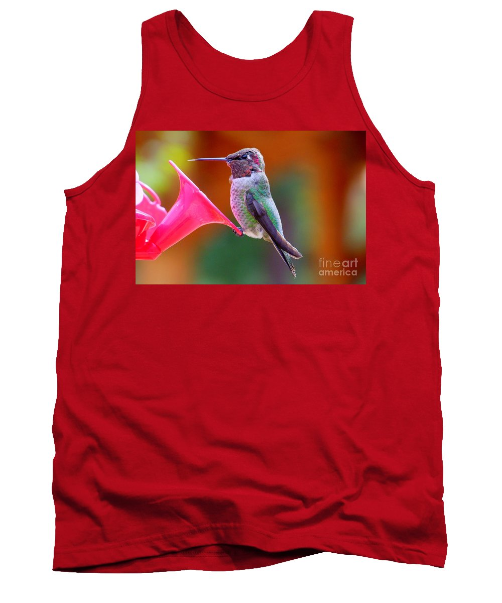 Bird Tank Top featuring the photograph Hummingbird - 28 by Mary Deal