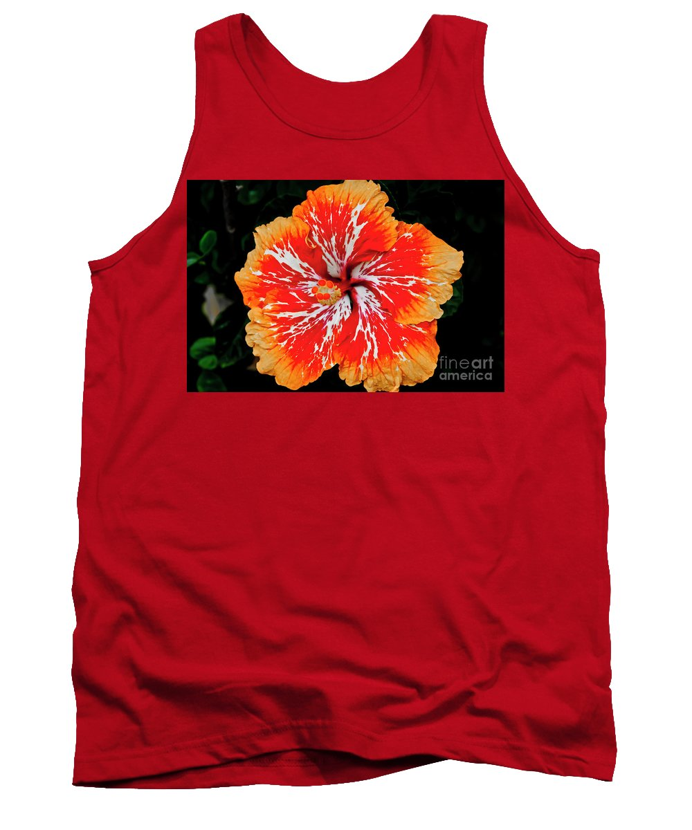 Flower Tank Top featuring the photograph Hybrid Hibiscus II Maui Hawaii by Jim Cazel