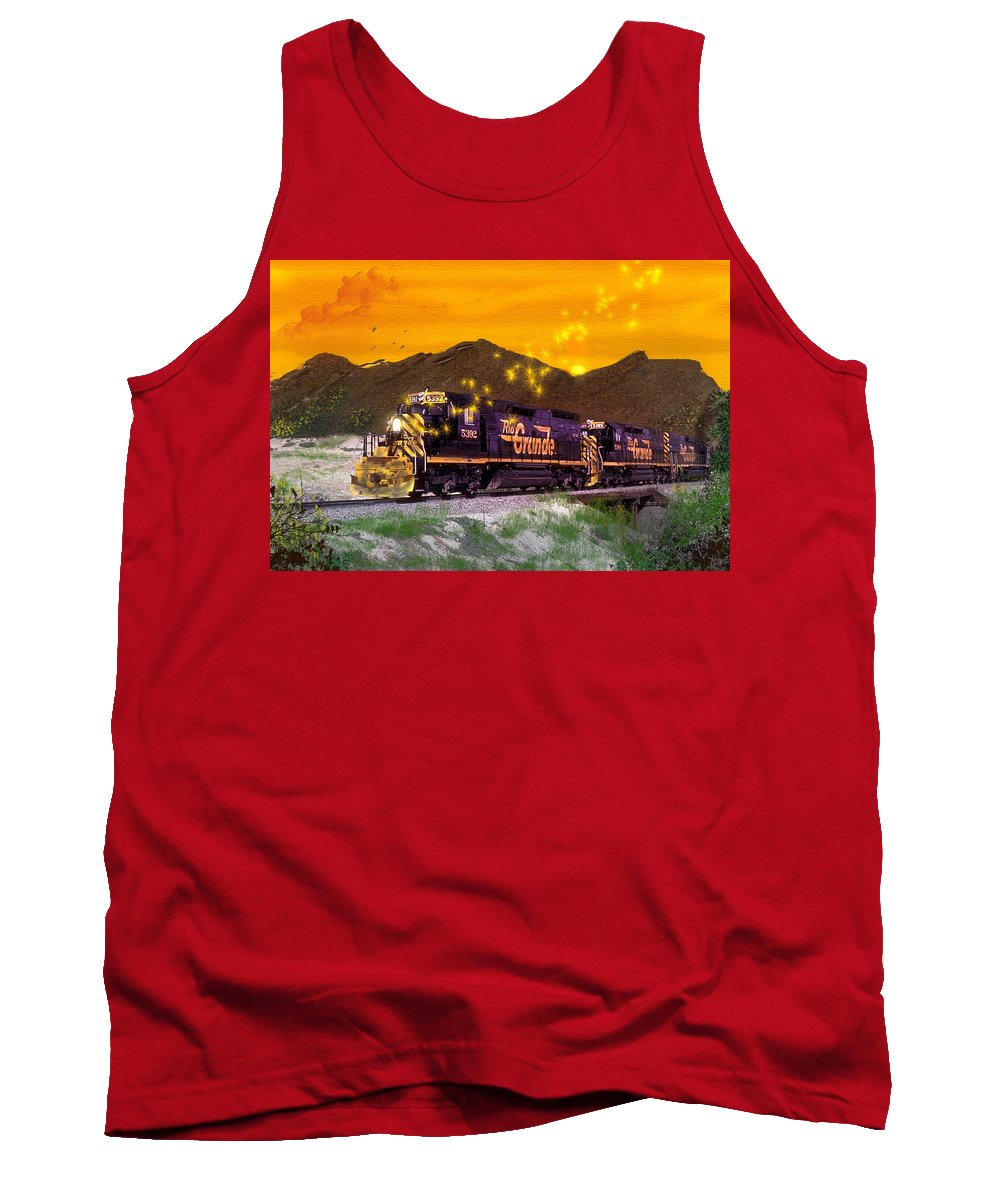 Trains Tank Top featuring the digital art If I Had A Magic Wand by J Griff Griffin