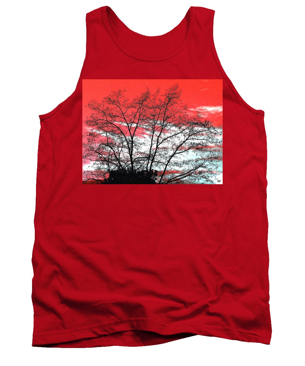 Impressions Tank Top featuring the digital art Impressions 6 by Will Borden