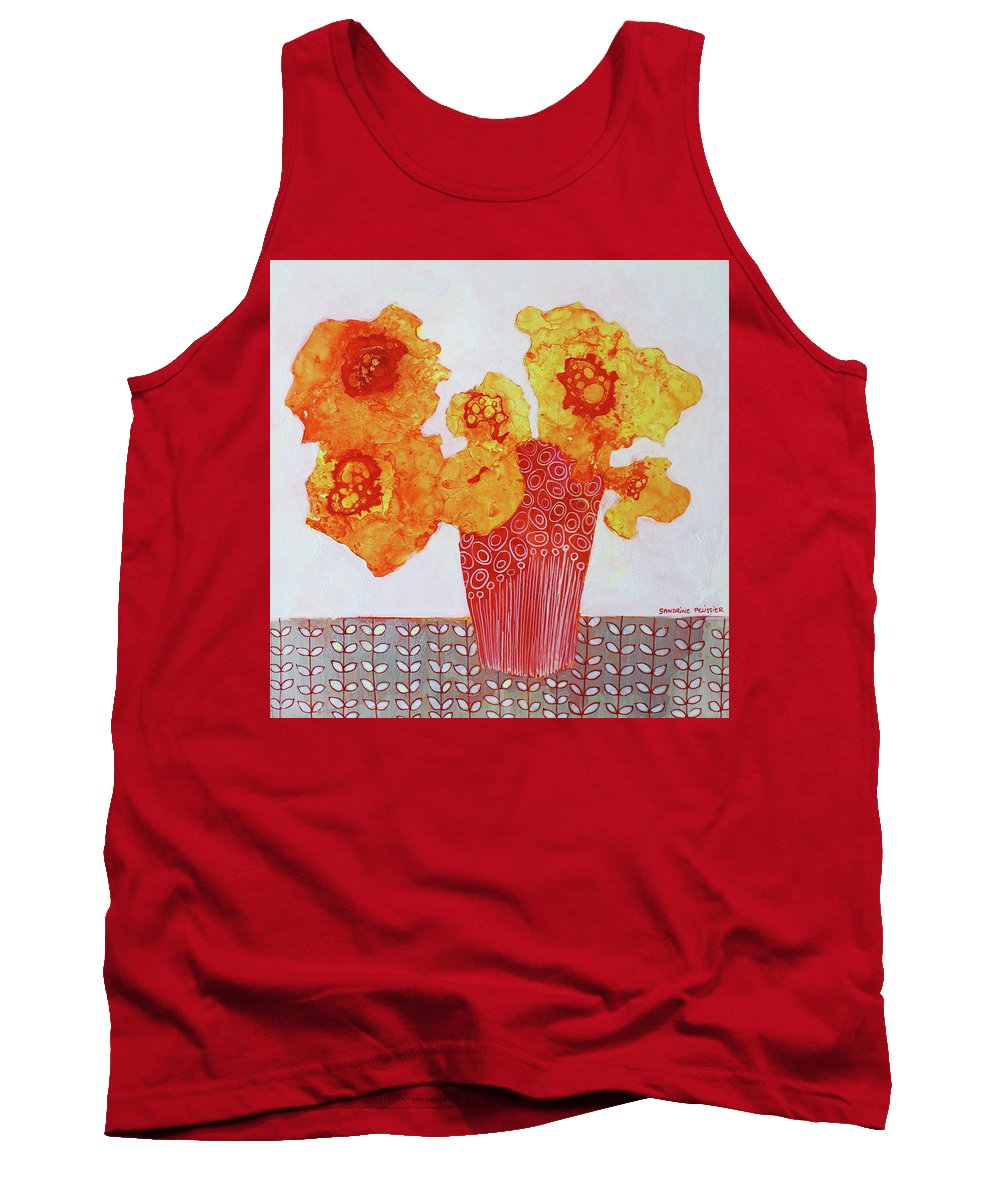 Abstract Flower Paintings Tank Top featuring the painting In Prague by Sandrine Pelissier