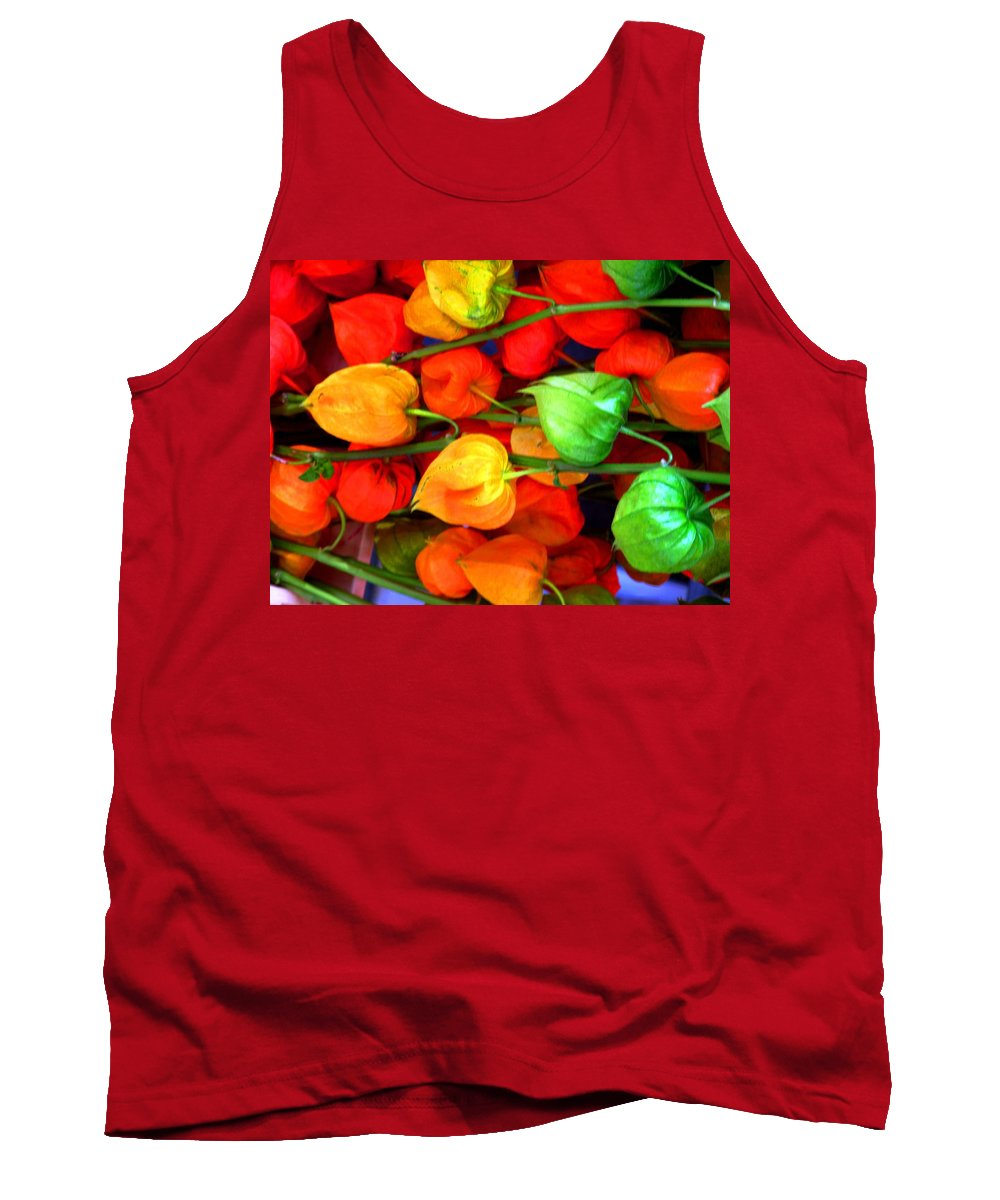 Market Tank Top featuring the photograph In The Market by Ian MacDonald
