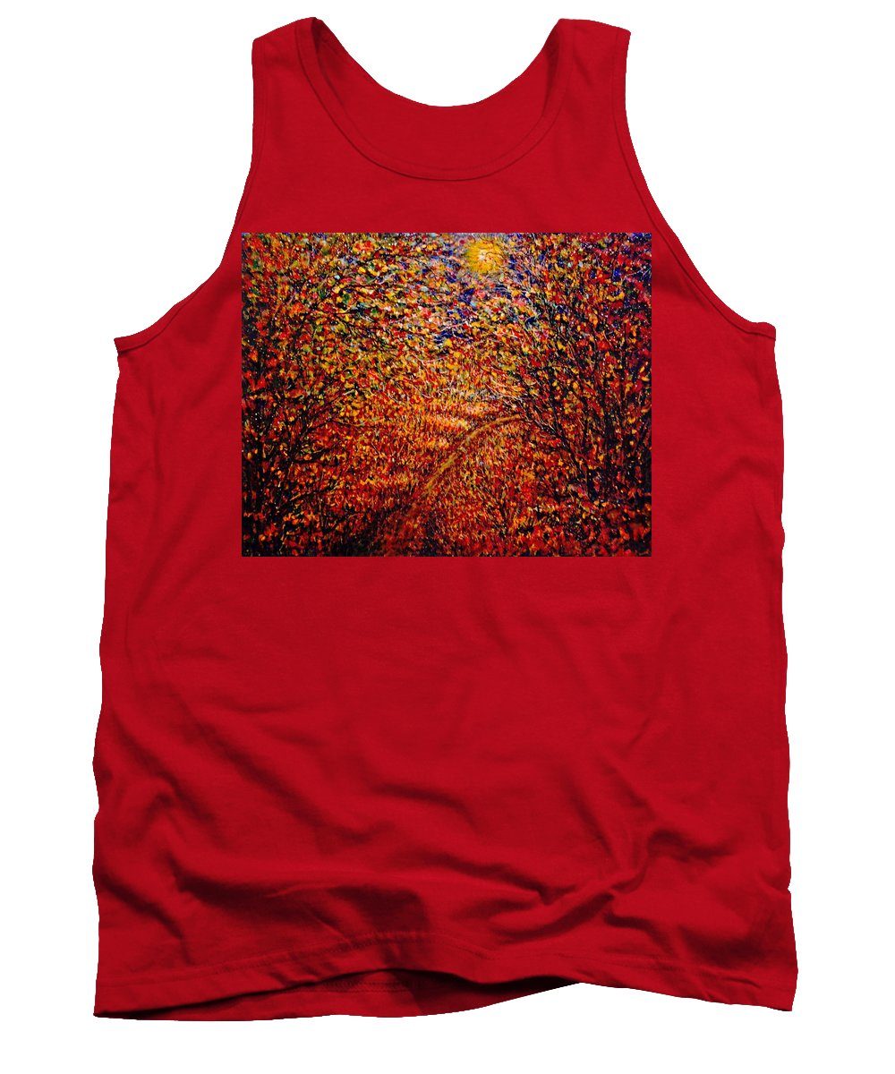 Landscape Tank Top featuring the painting In The Moonlight by Natalie Holland