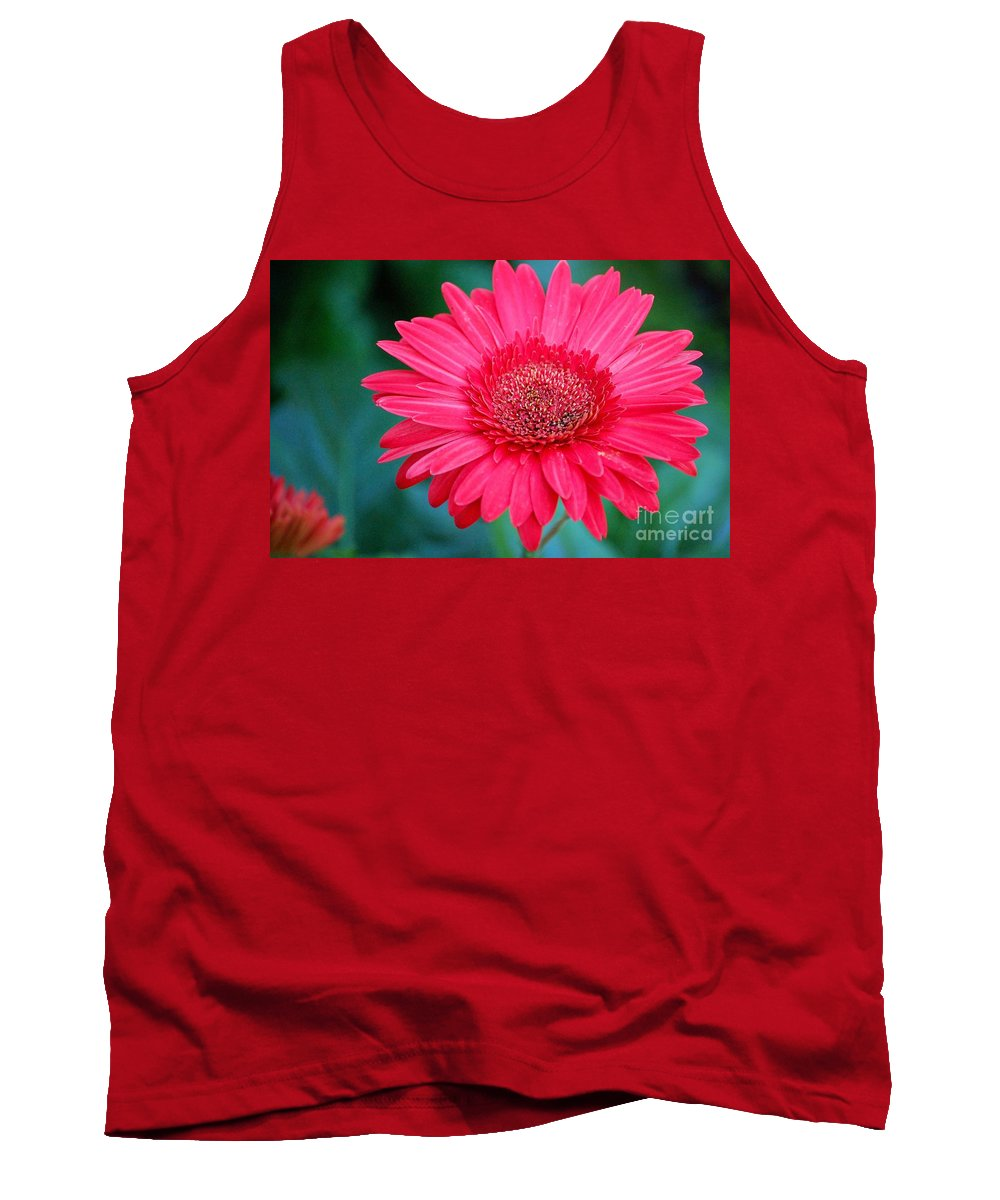 Gerber Daisy Tank Top featuring the photograph In the Pink by Debbi Granruth