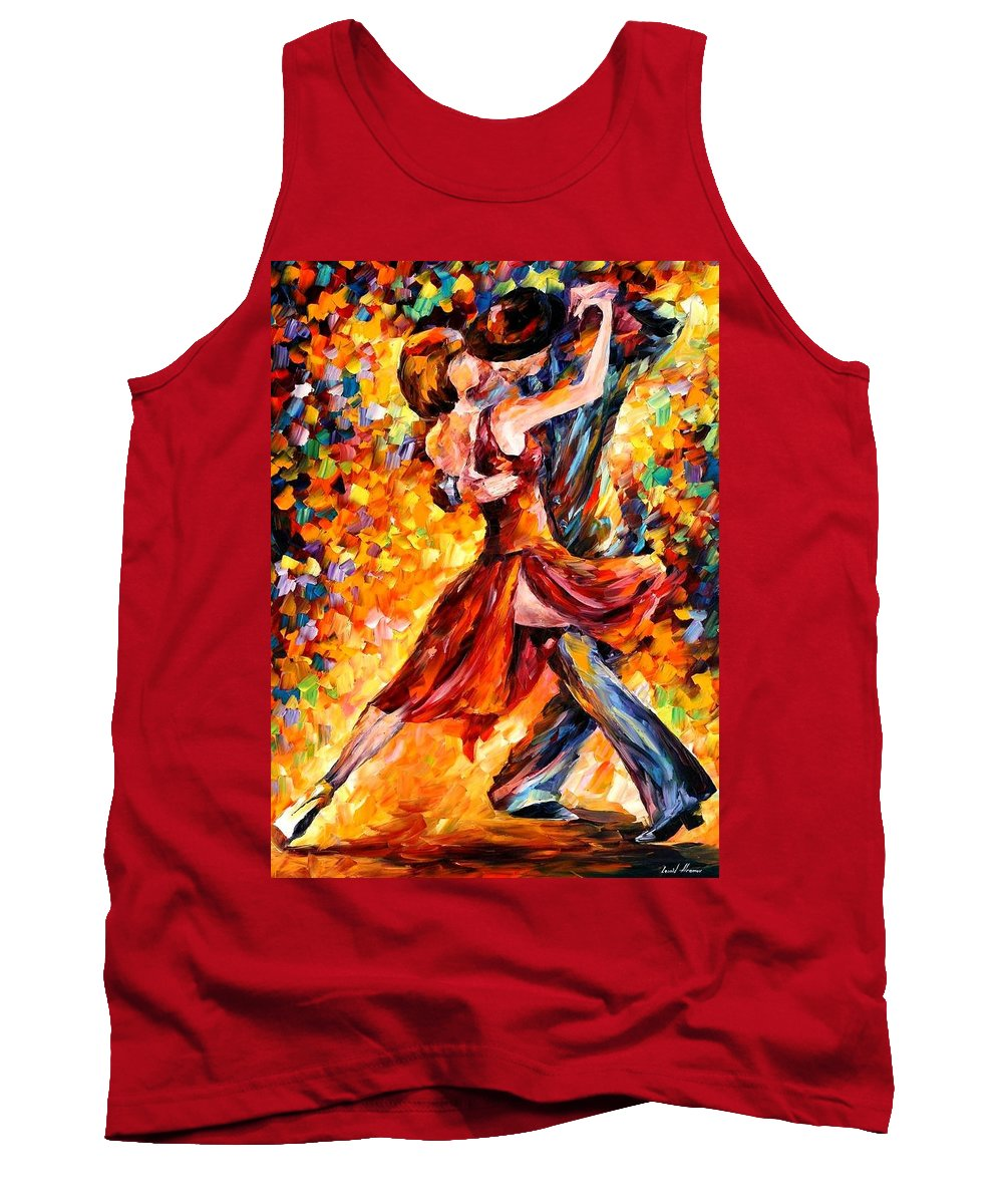 Afremov Tank Top featuring the painting In The Rhythm Of Tango by Leonid Afremov