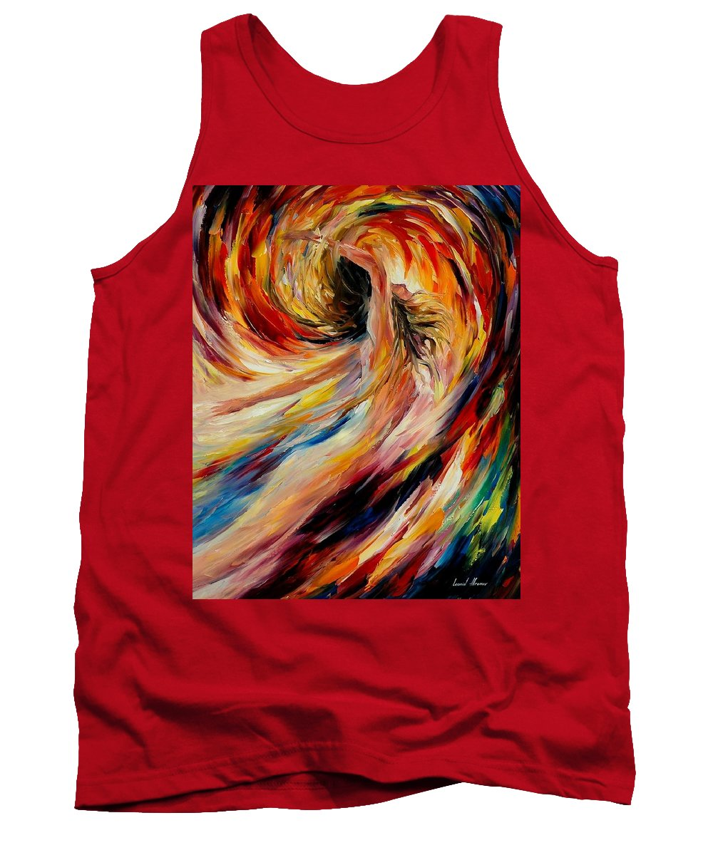 Nude Tank Top featuring the painting In The Vortex Of Passion by Leonid Afremov