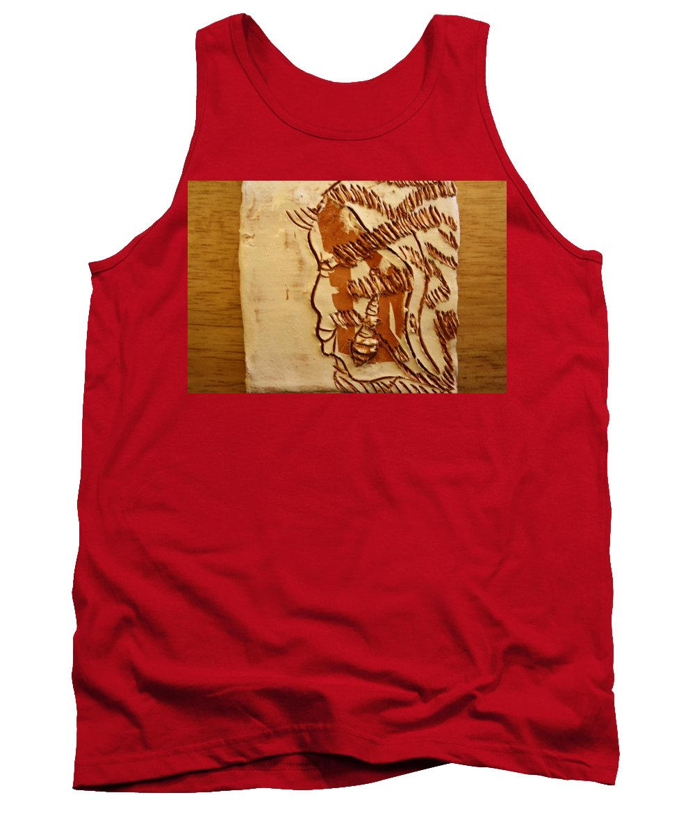 Jesus Tank Top featuring the ceramic art In Tune - Tile by Gloria Ssali