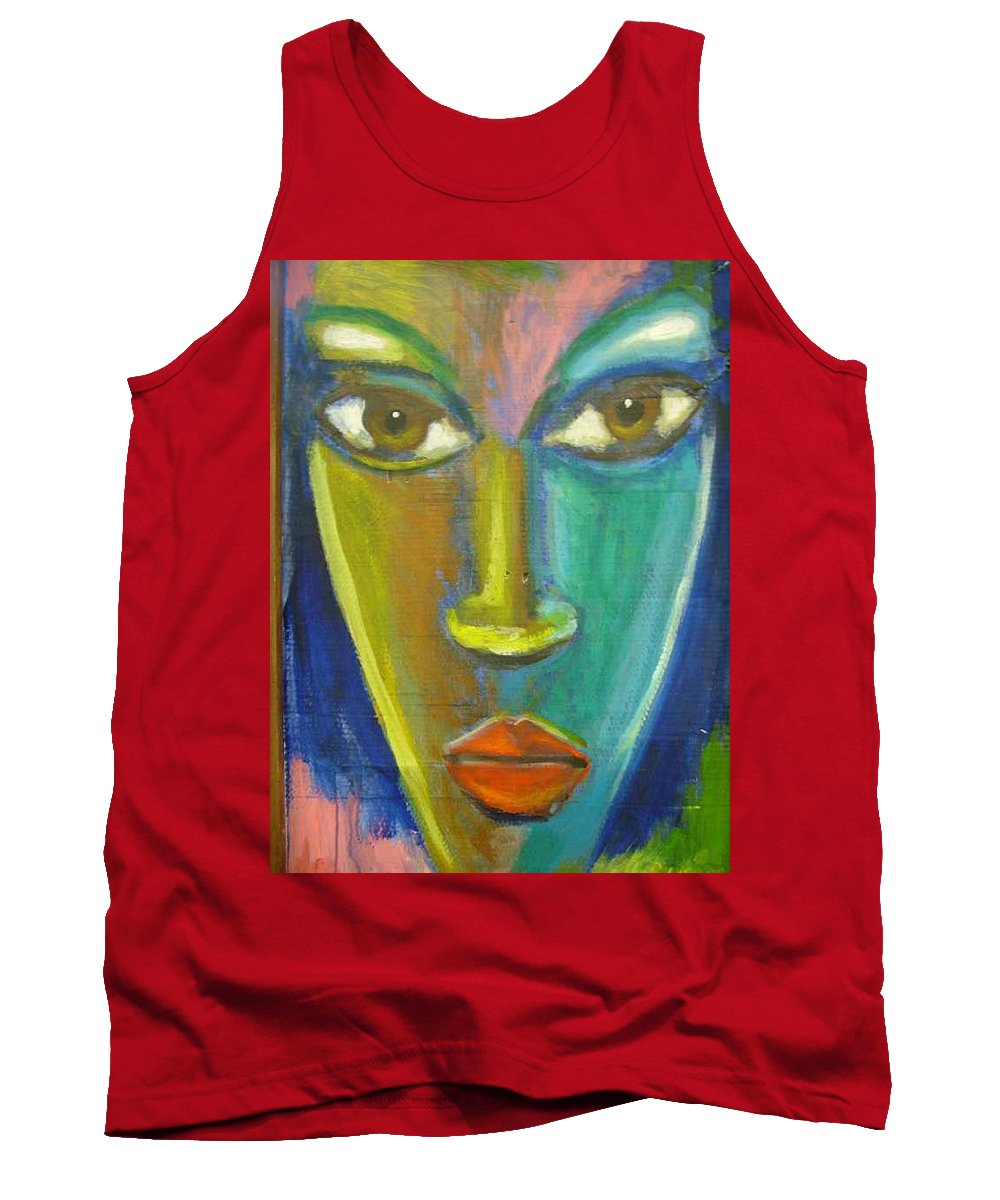 Painting Tank Top featuring the painting Intensity by Jan Gilmore