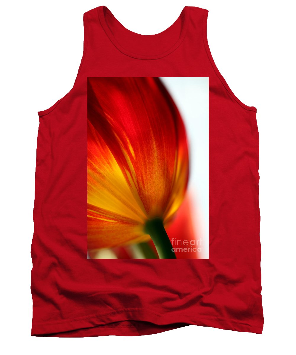 Tulip Tank Top featuring the photograph Introverted by Amanda Barcon