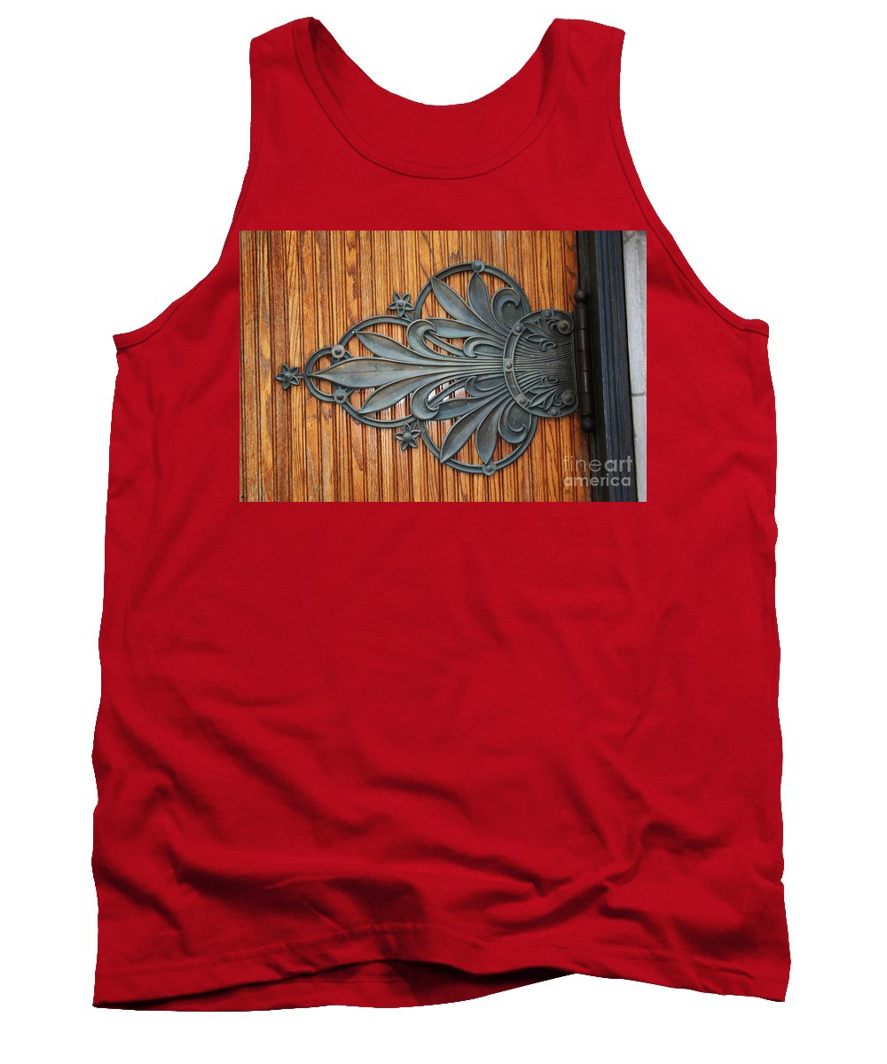 Tank Top featuring the photograph Iron Flowers by Jamie Lynn