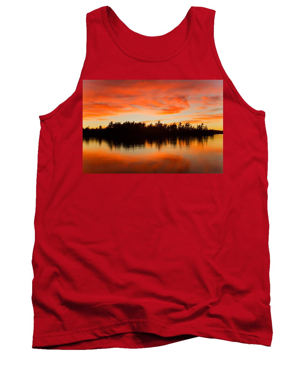 Sunset Tank Top featuring the photograph Island At Sunset by Irwin Barrett