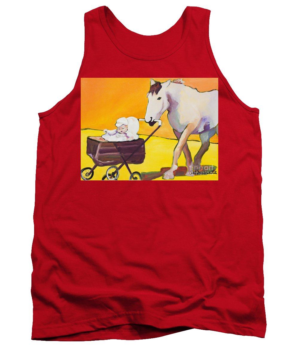 Animal Tank Top featuring the painting Jake by Pat Saunders-White