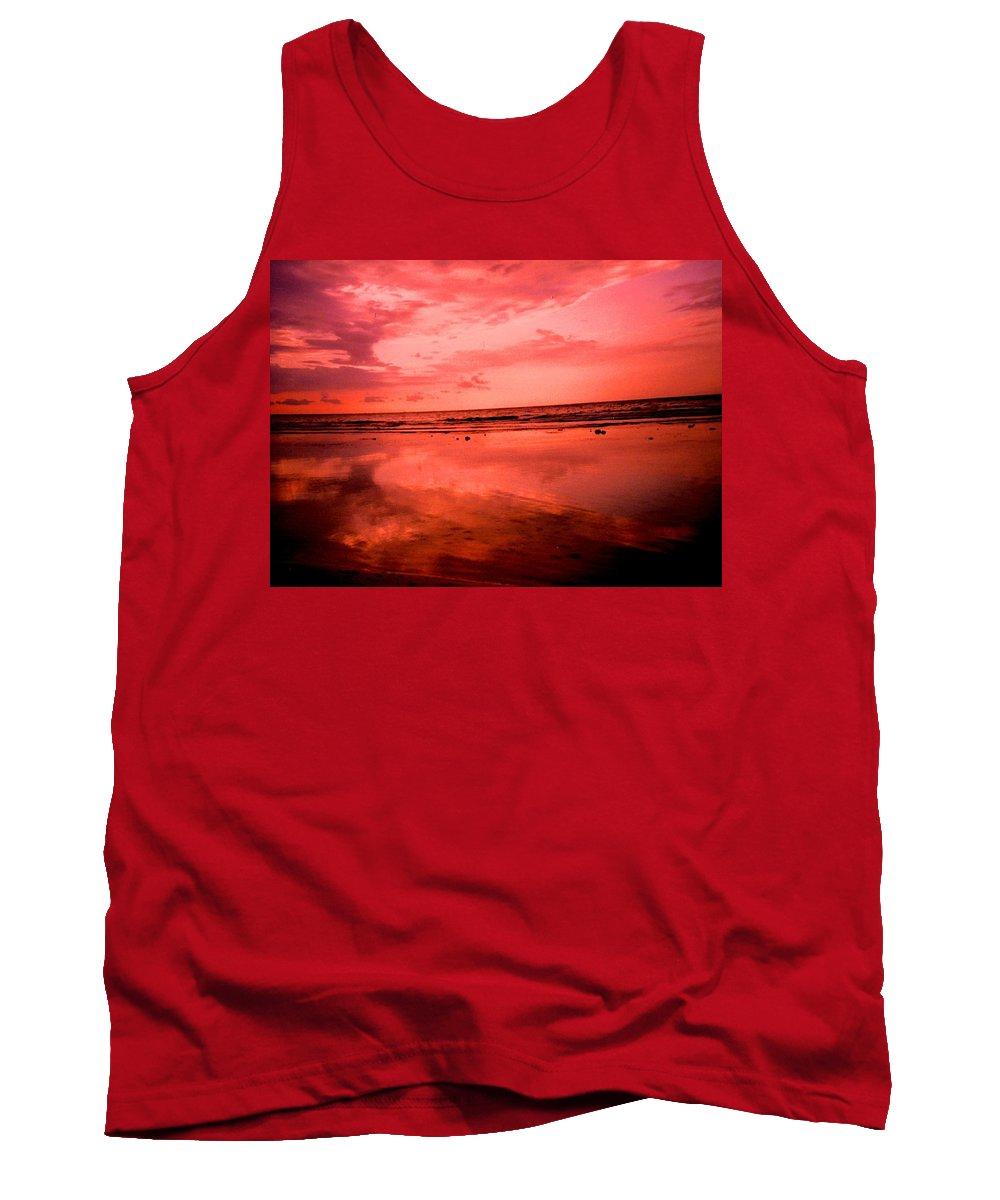 Sunset Tank Top featuring the photograph Jamaica Sunset by Ian MacDonald
