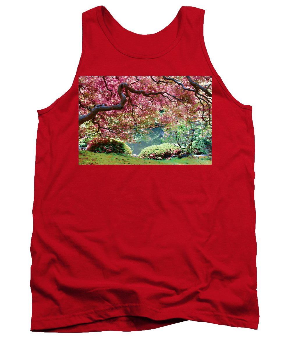 Japanese Maple Tree Tank Top featuring the photograph Japanese Burgundy Maple Tree by Athena Mckinzie