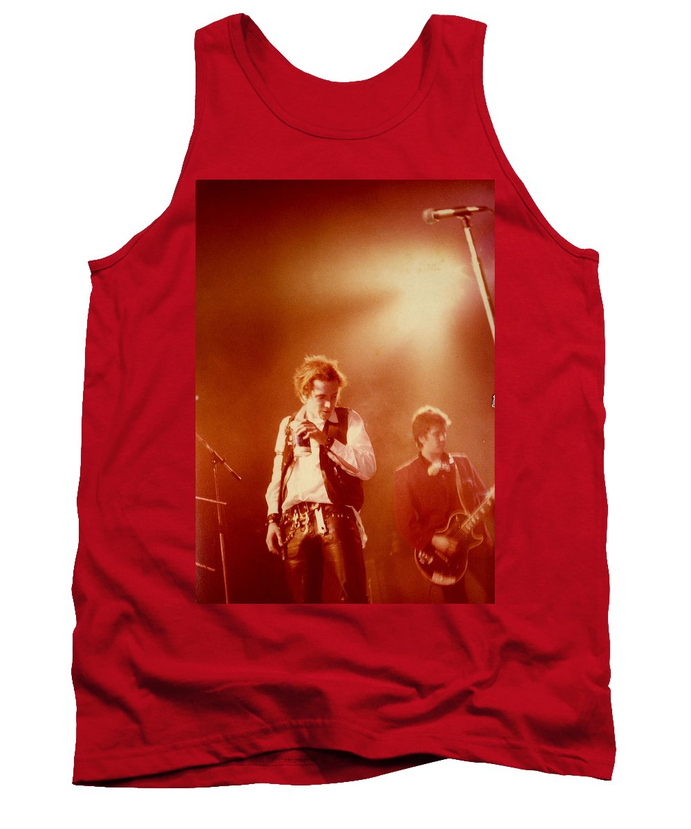 Sex Pistols  Punk Rock  Johnny Lydon  Johnny Rotten Steve Jones Tank Top featuring the photograph Johnny Rotten and Steve Jones by Dawn Wirth