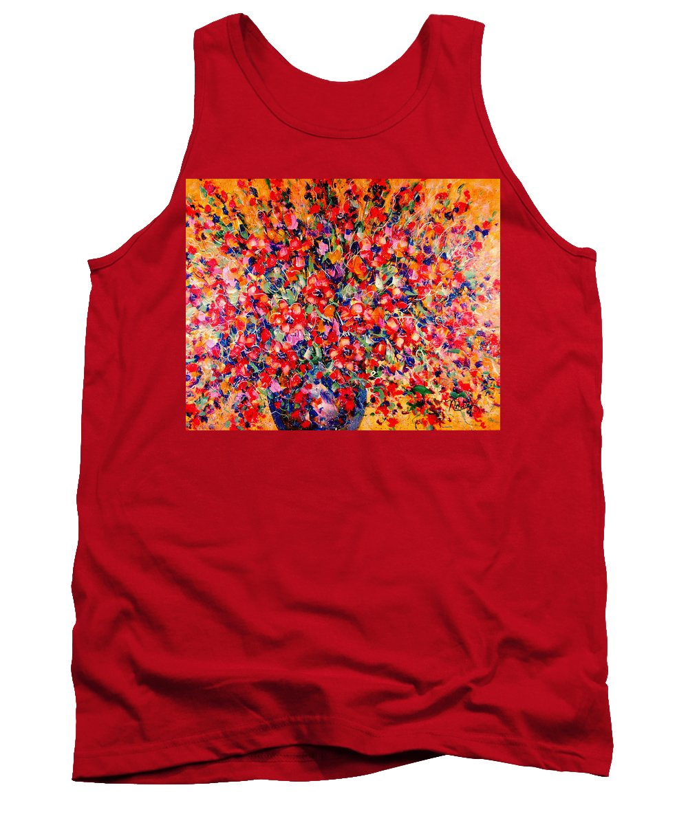 Flowers Tank Top featuring the painting Joy Of Summer by Natalie Holland