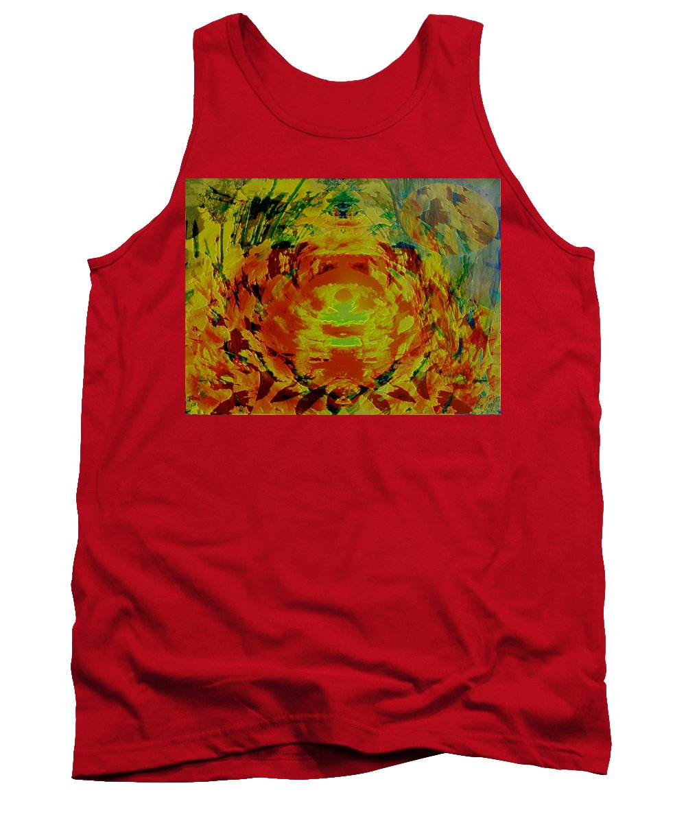 Flowers Tank Top featuring the digital art Just Flowers by Helmut Rottler