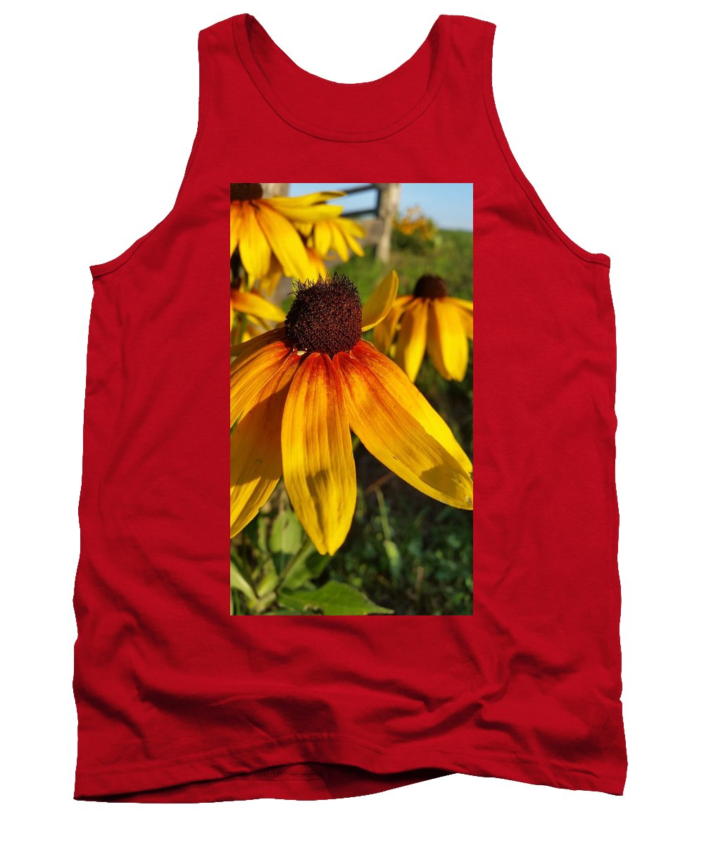 Daisy Tank Top featuring the photograph Just Smile by Caryl J Bohn