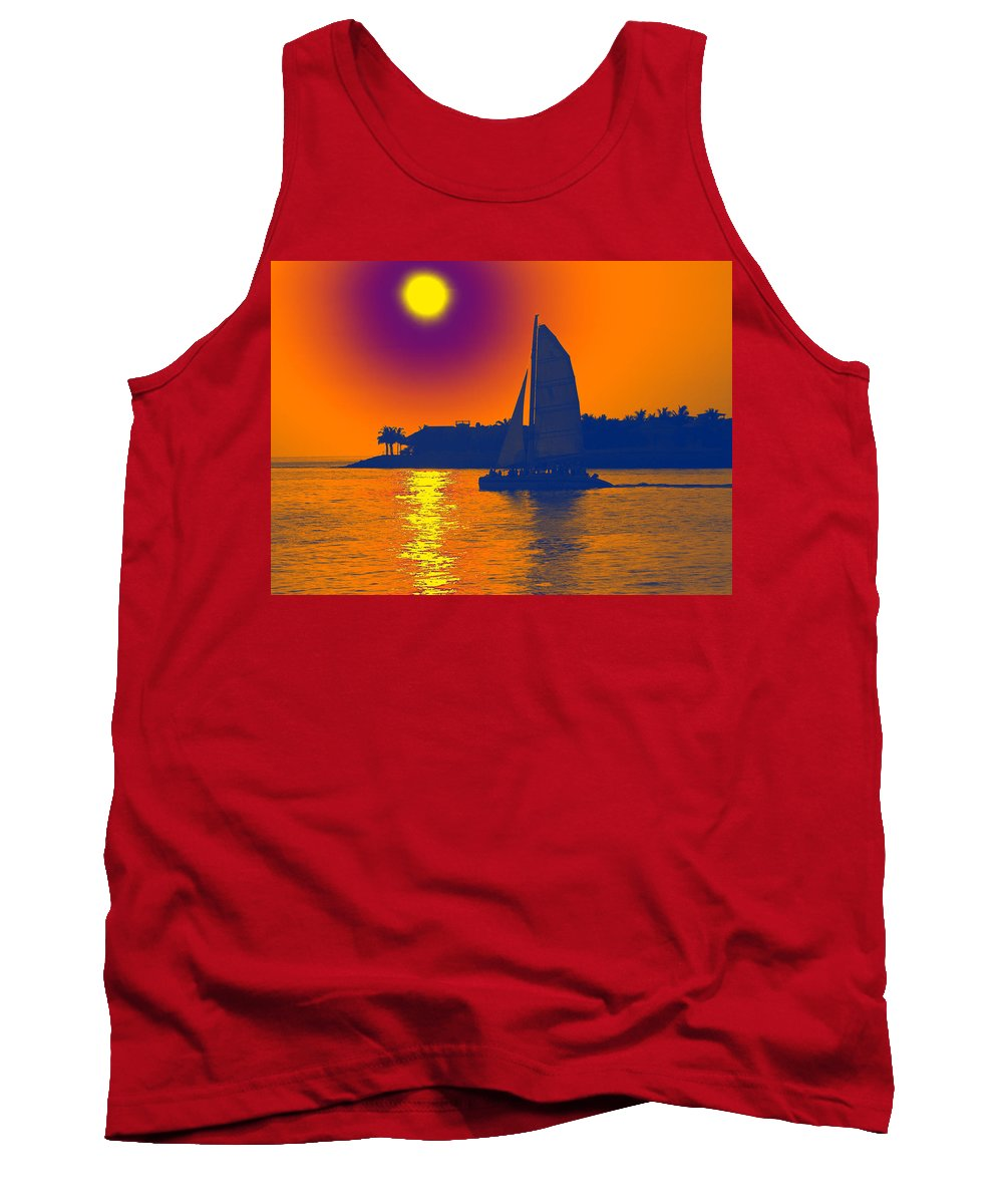 Key West Tank Top featuring the photograph Key West Passion by Steven Sparks