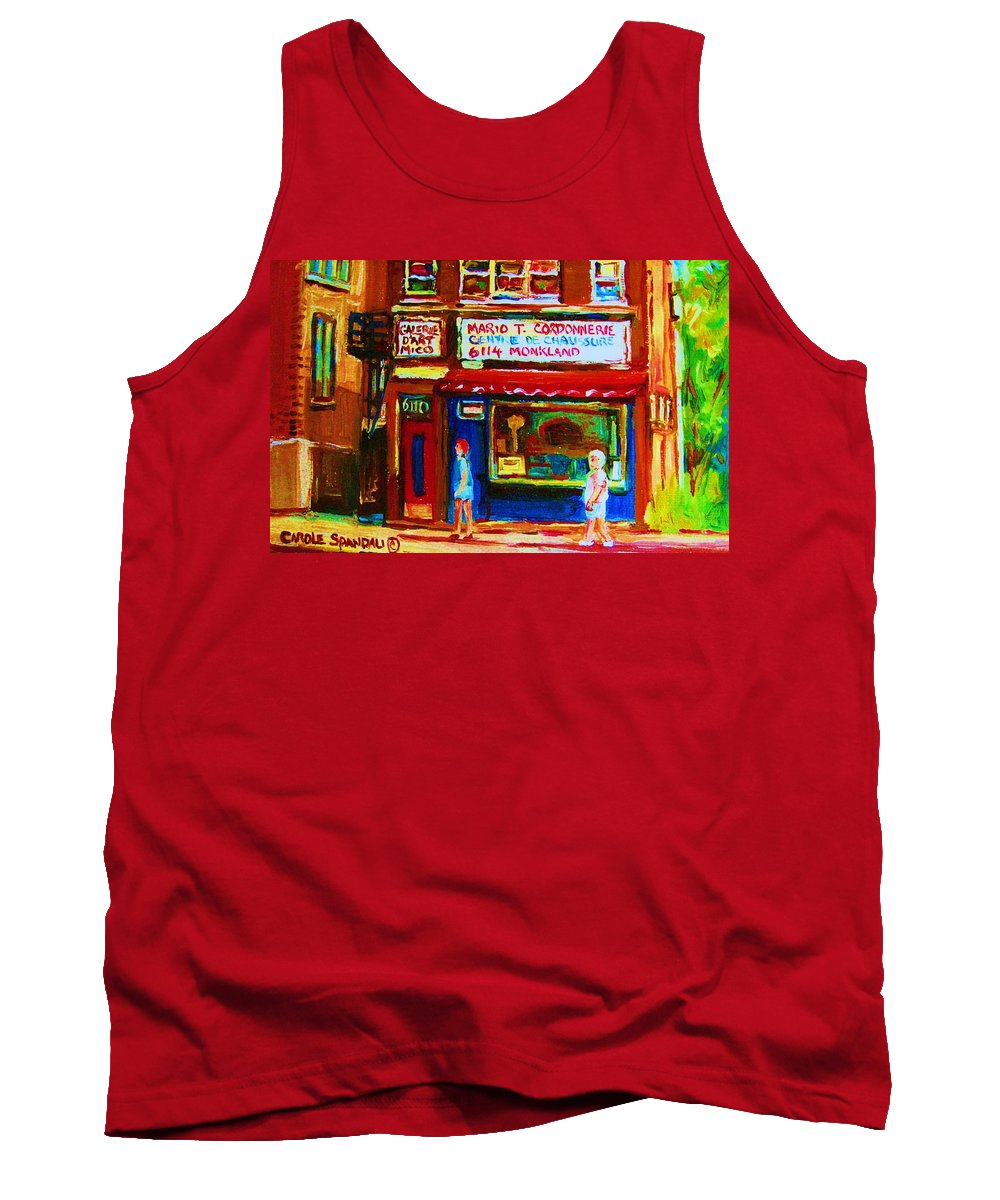 Small Cute Store Tank Top featuring the painting Keys To The Summer by Carole Spandau