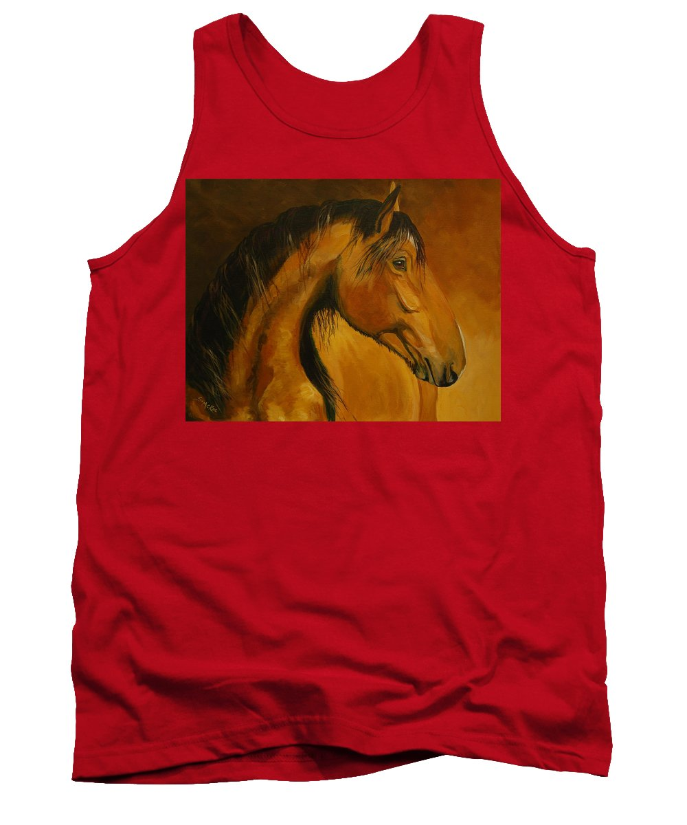 Acrylic Tank Top featuring the painting Kiger Sunrise by Suzanne McKee